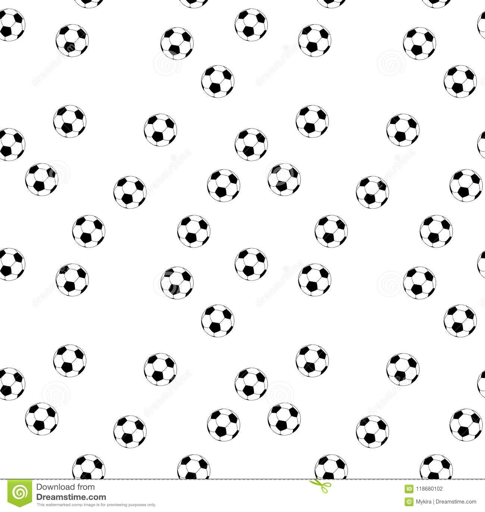 Seamless vector football background