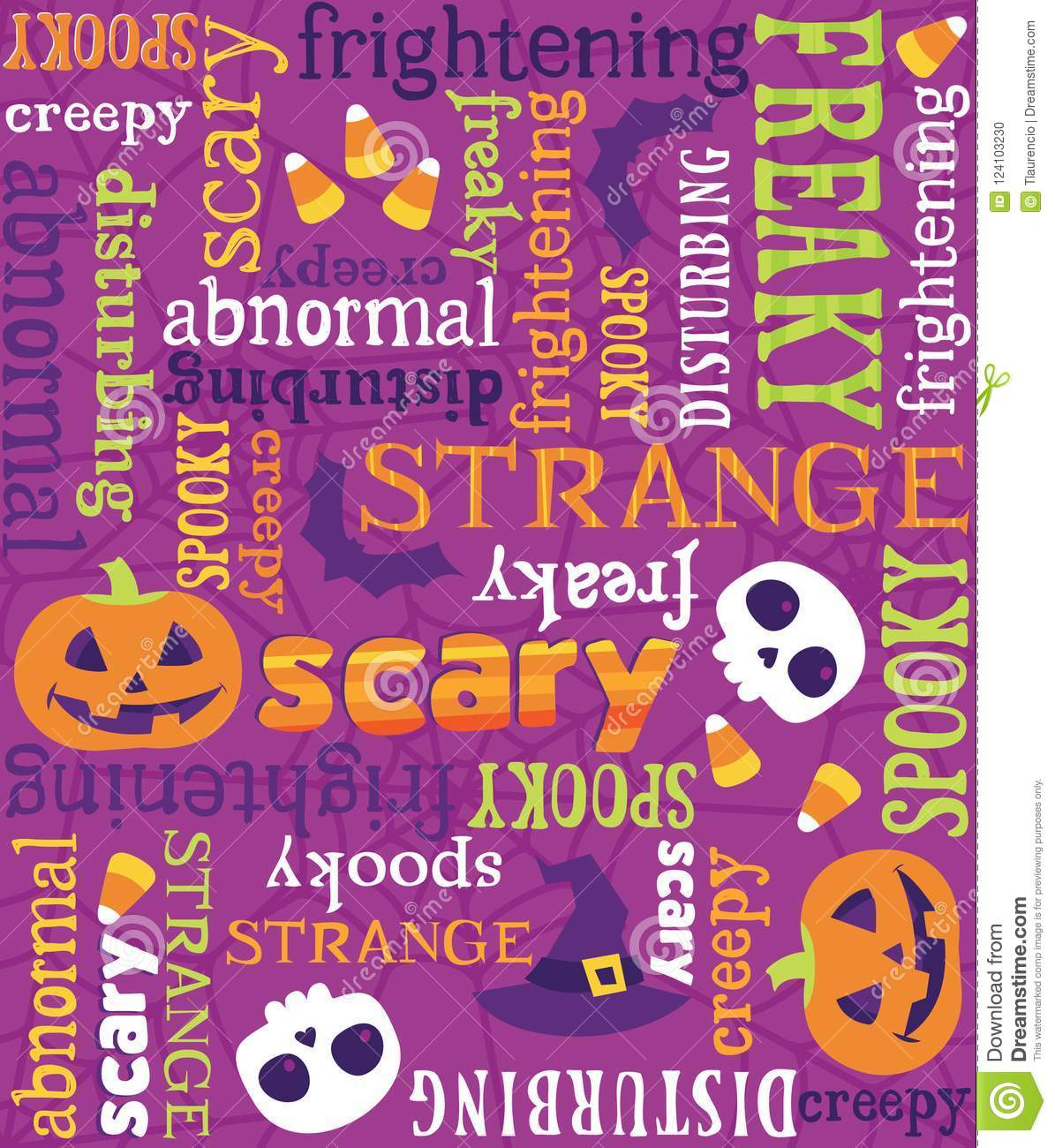 download seamless vector halloween words pattern stock vector illustration of backgrounds seamless 124103230