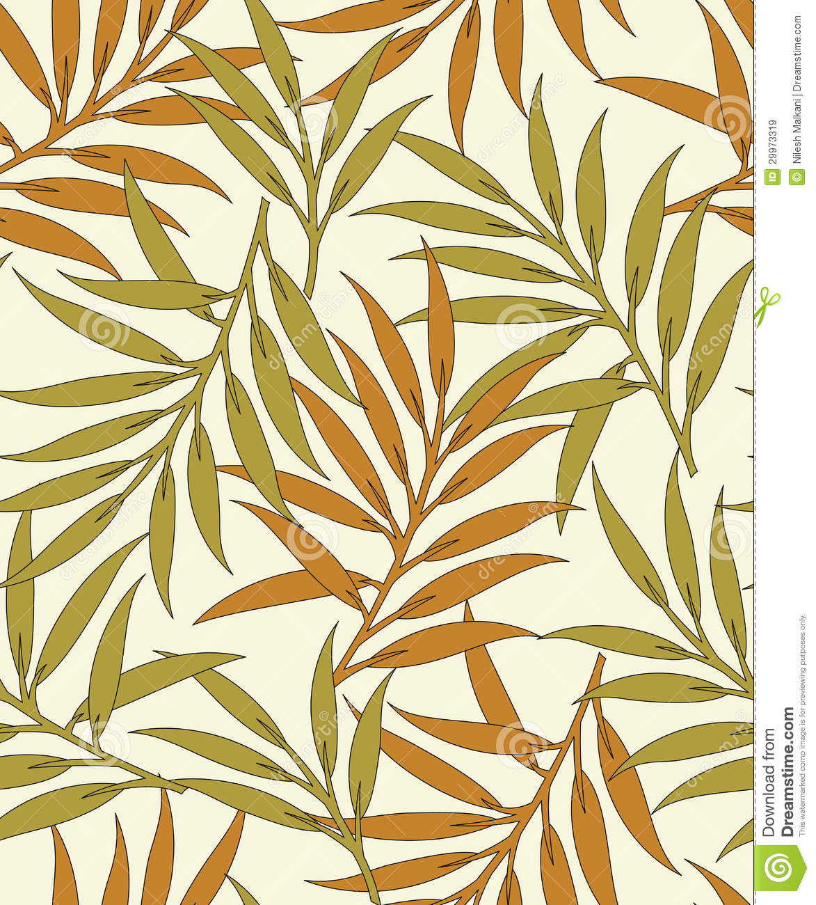 Bed sheets texture seamless - Seamless Vector Leaves Background Pattern