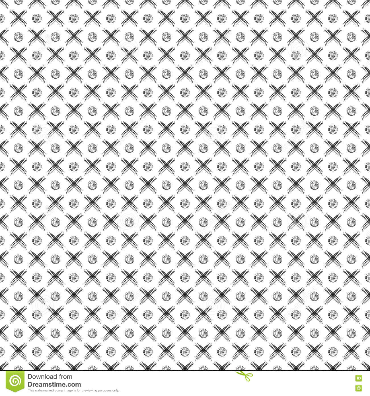seamless vector pattern. black and white geometrical background with
