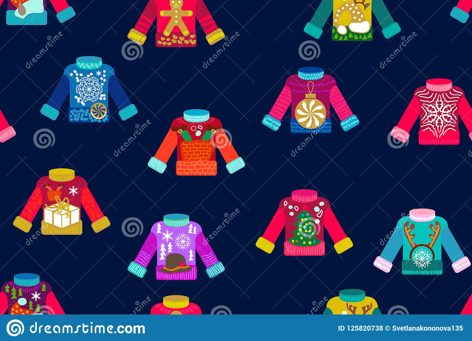Ugly Christmas sweaters. stock vector. Illustration of handmade ...