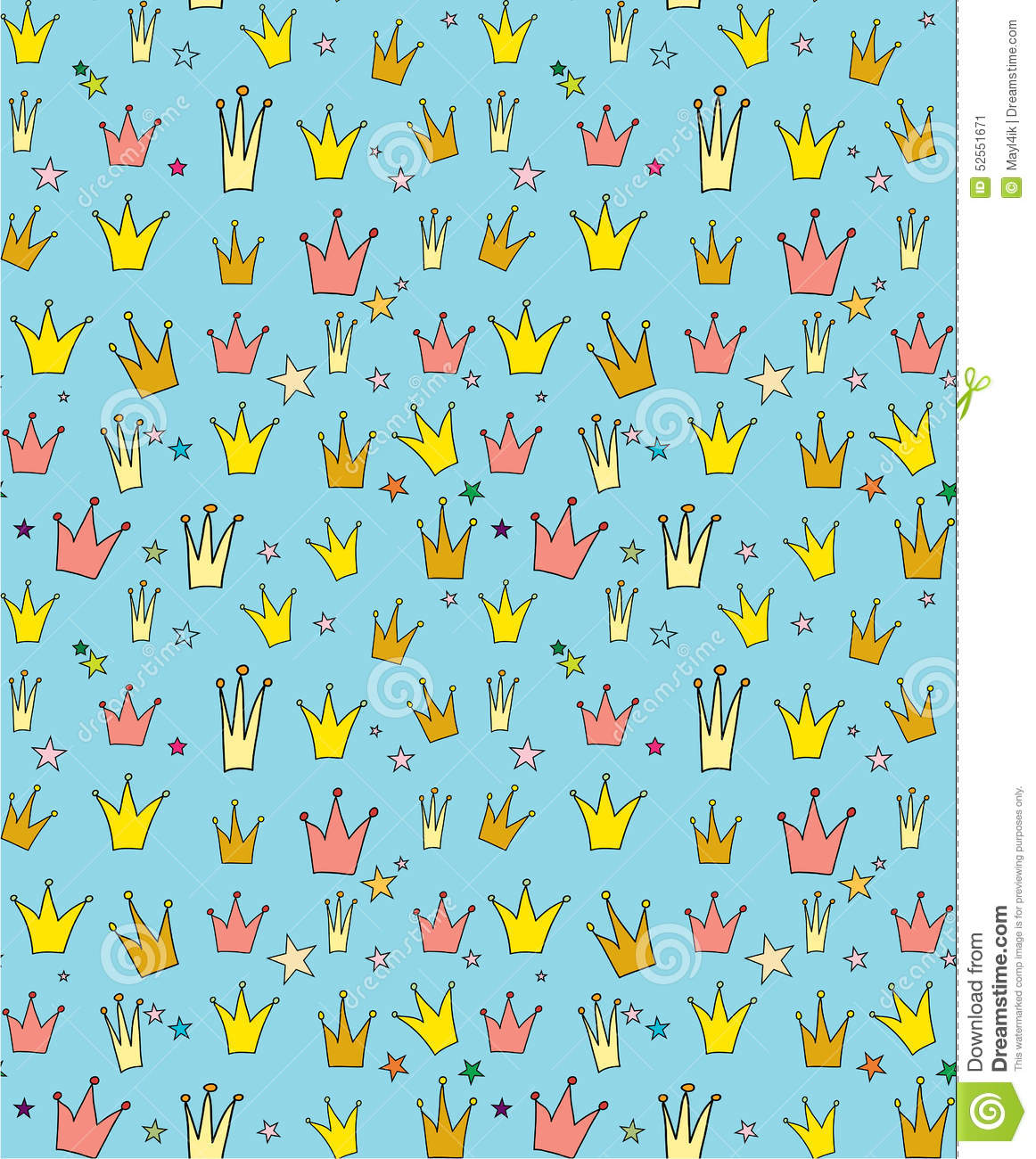Seamless Vector Pattern Of The Crown Princess Stock Vector Illustration Of Corona Doodle 52551671 See the best crown wallpapers hd collection. dreamstime com