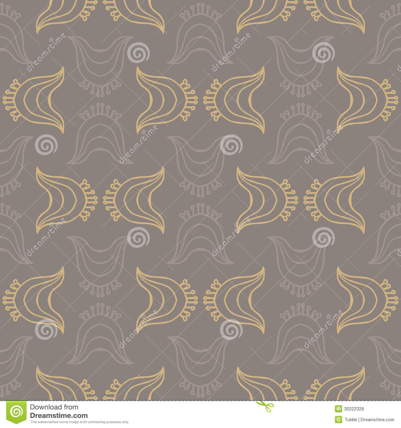 vintage pattern with organic shapes stock vector - illustration of