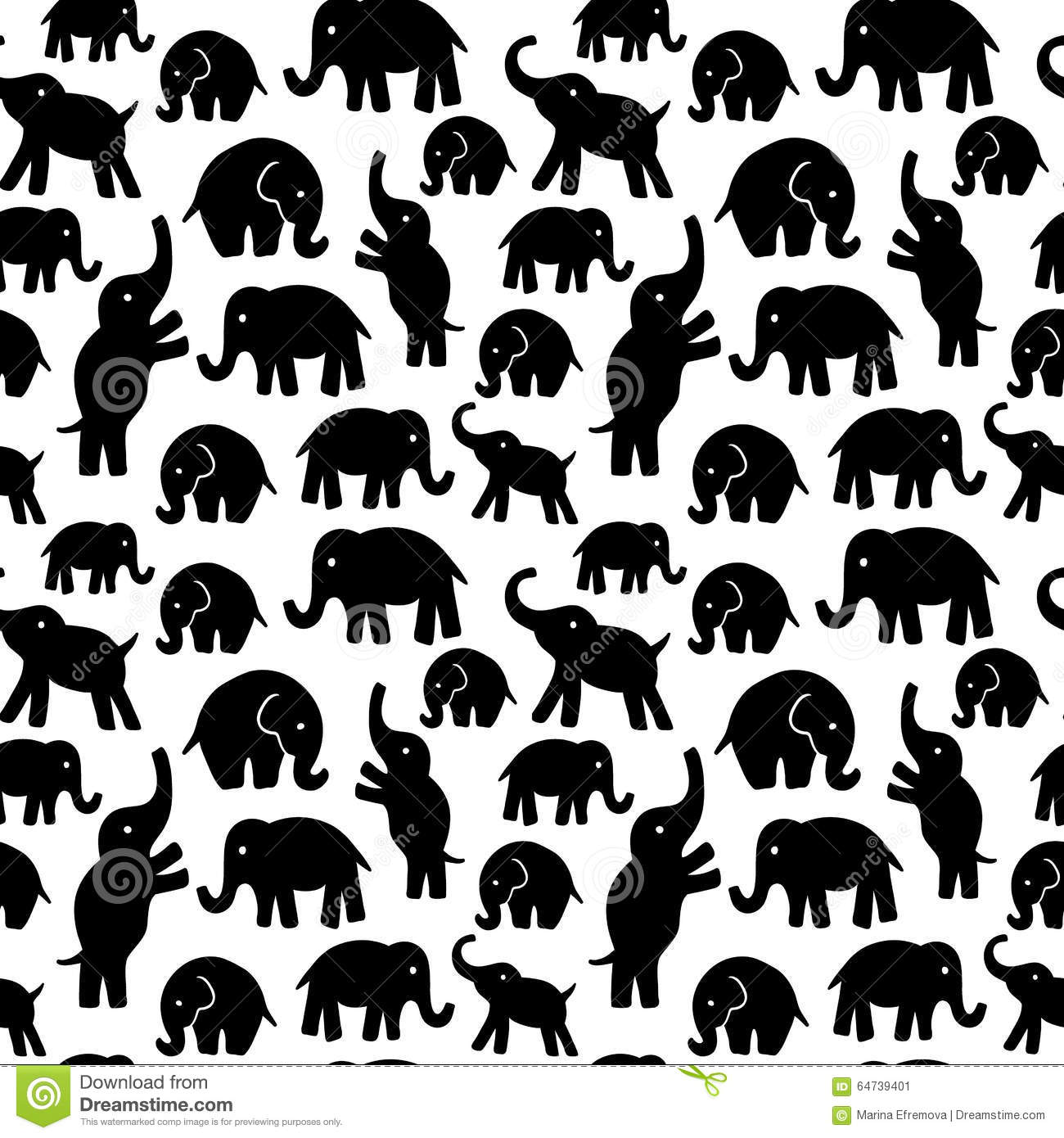 Book Cover Background Zero ~ Seamless pattern with colorful elephants for textile book