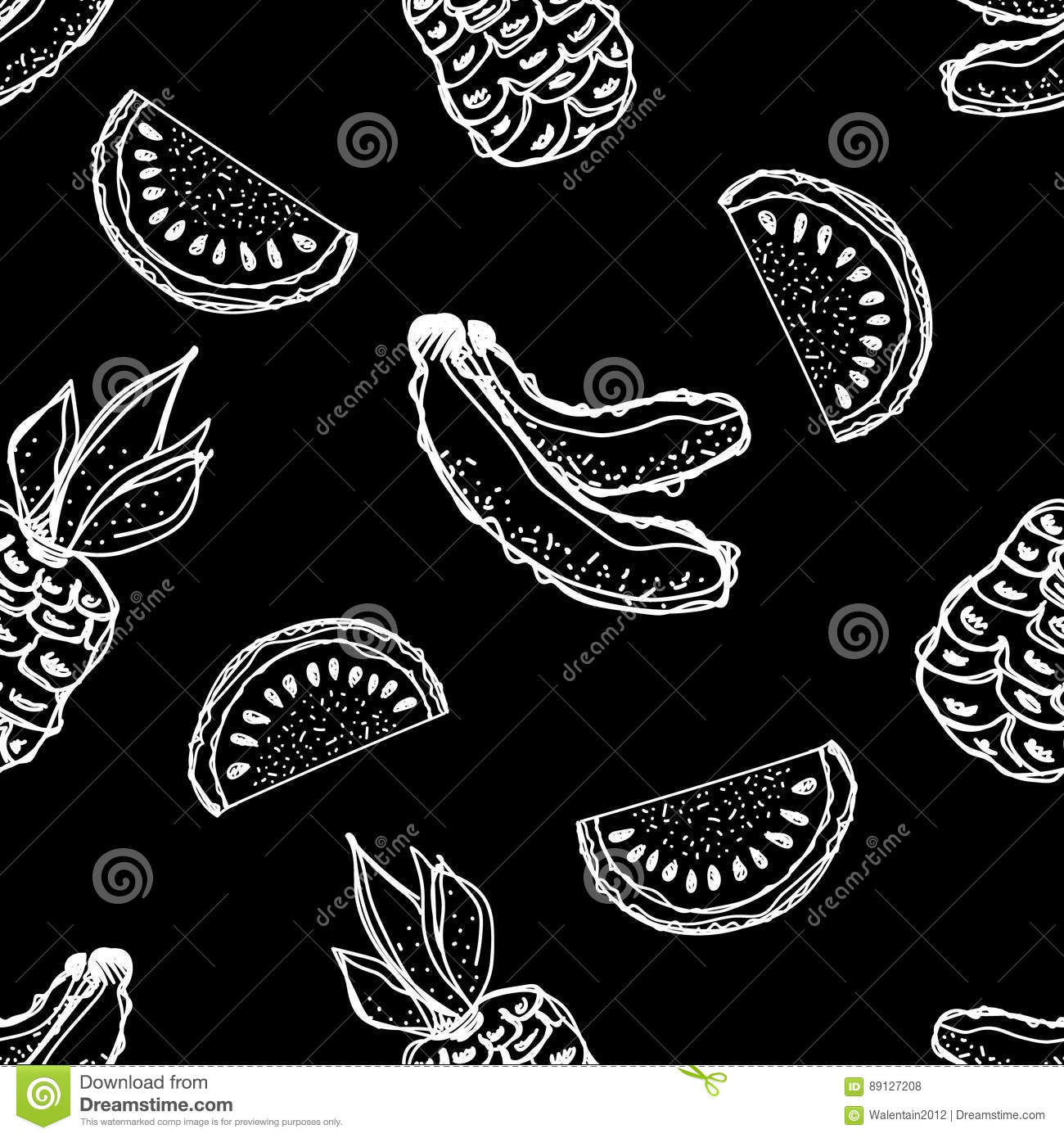 Line Drawing Wallpaper Uk : Seamless vector pattern hand drawn fruits illustration of