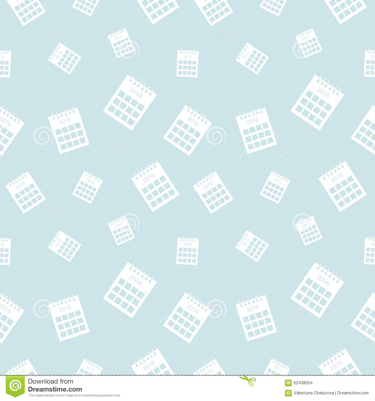 Seamless Vector Pattern, Light Shadeless Background With Calendars ...