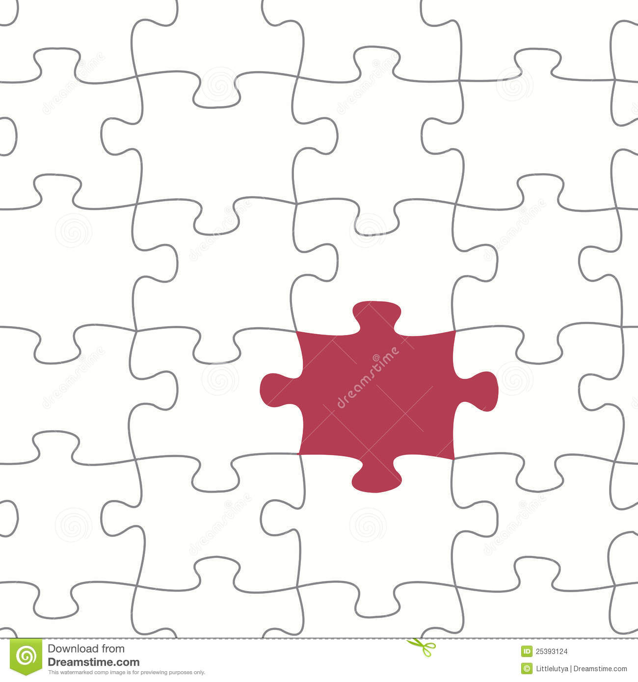 Seamless Vector Puzzle Pattern Stock Images - Image: 25393124