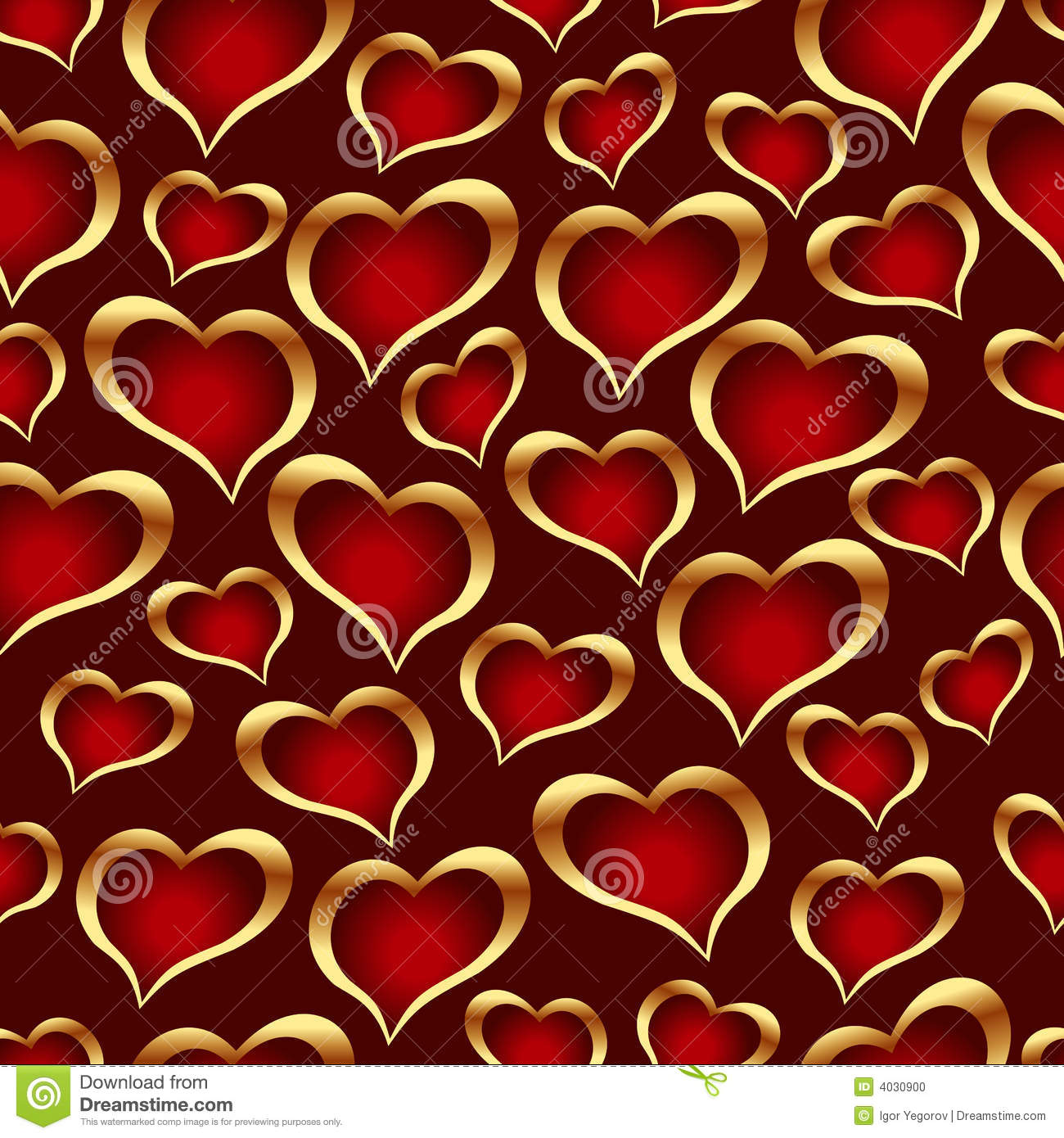 Seamless Vector Texture With Hearts Stock Photo Image