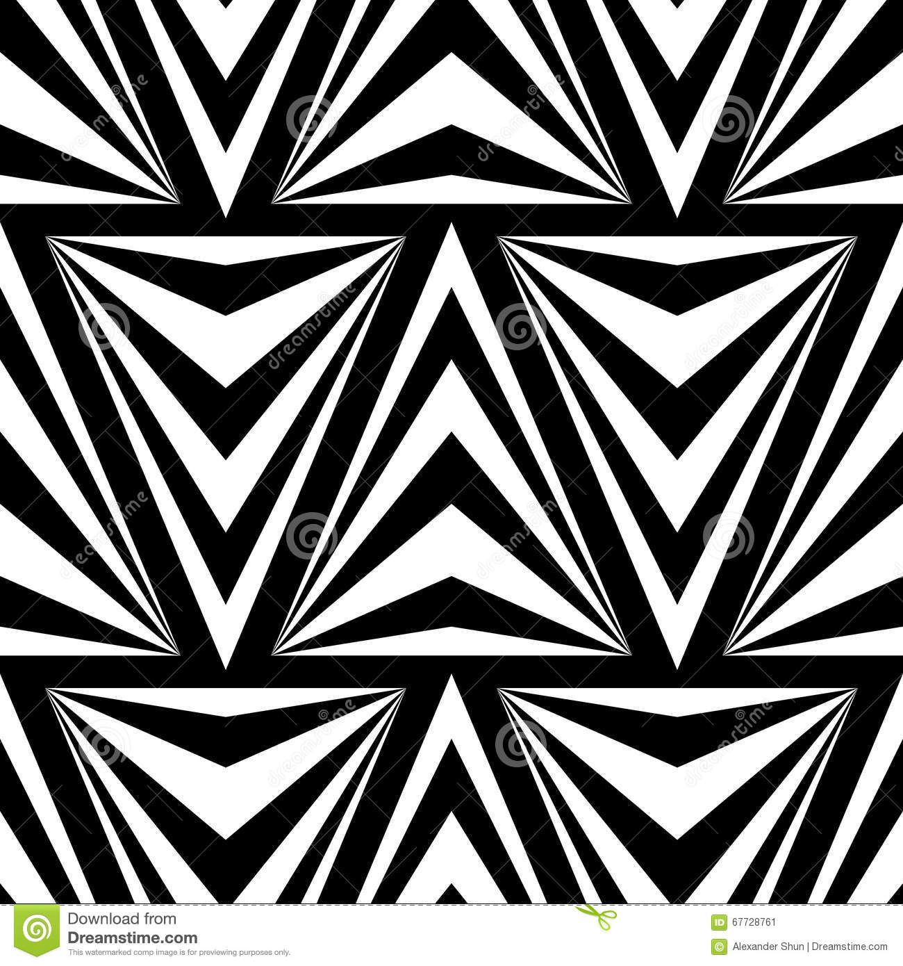 Seamless Vector Triangles Pattern For Textile Design Stock