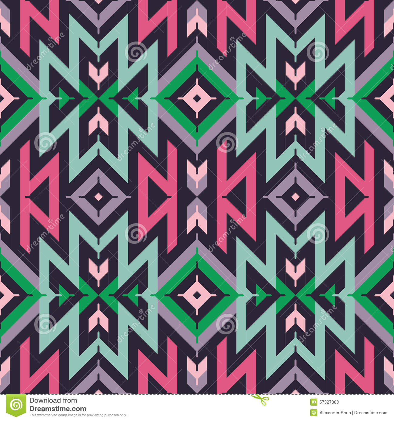 Vector Seamless Tribal Pattern For Textile Design Vector
