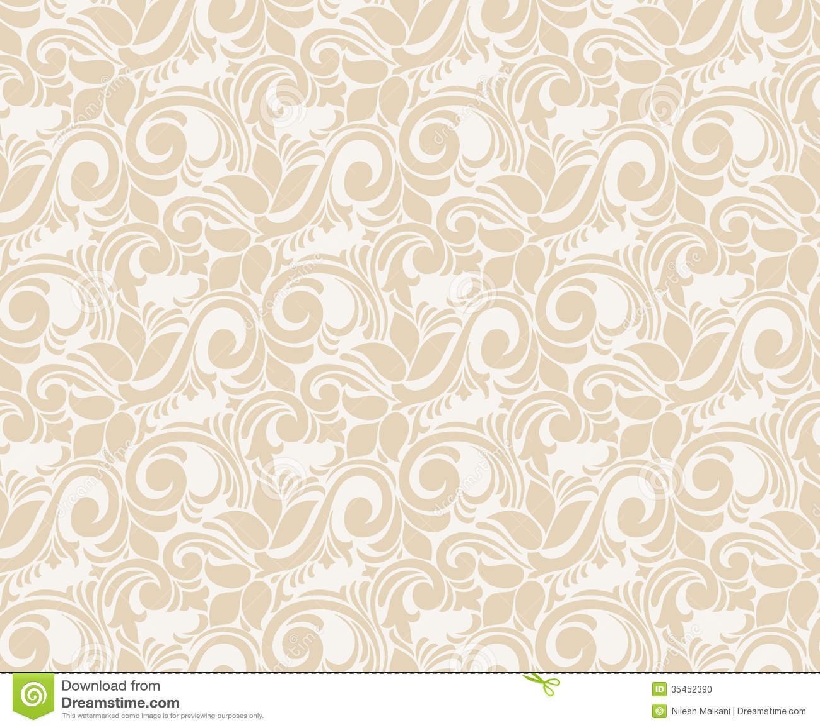 Seamless Vector Wallpaper Stock Vector Illustration Of Card