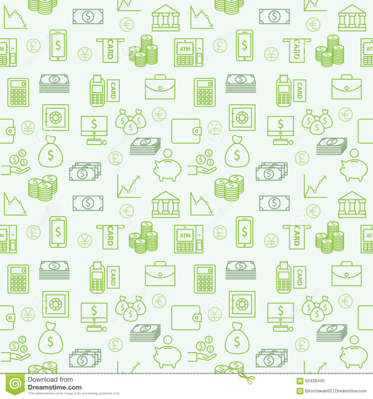 Finance Background: Seamless Vector Wallpapers Or Background Money, Finance