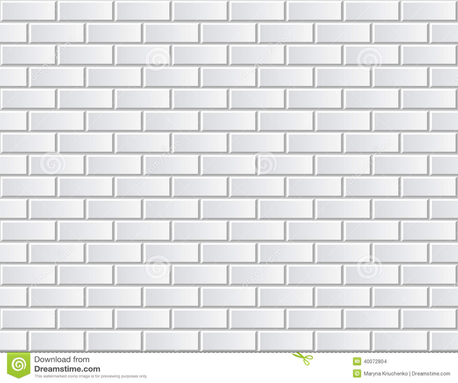 Seamless vector white brick wall - background pattern