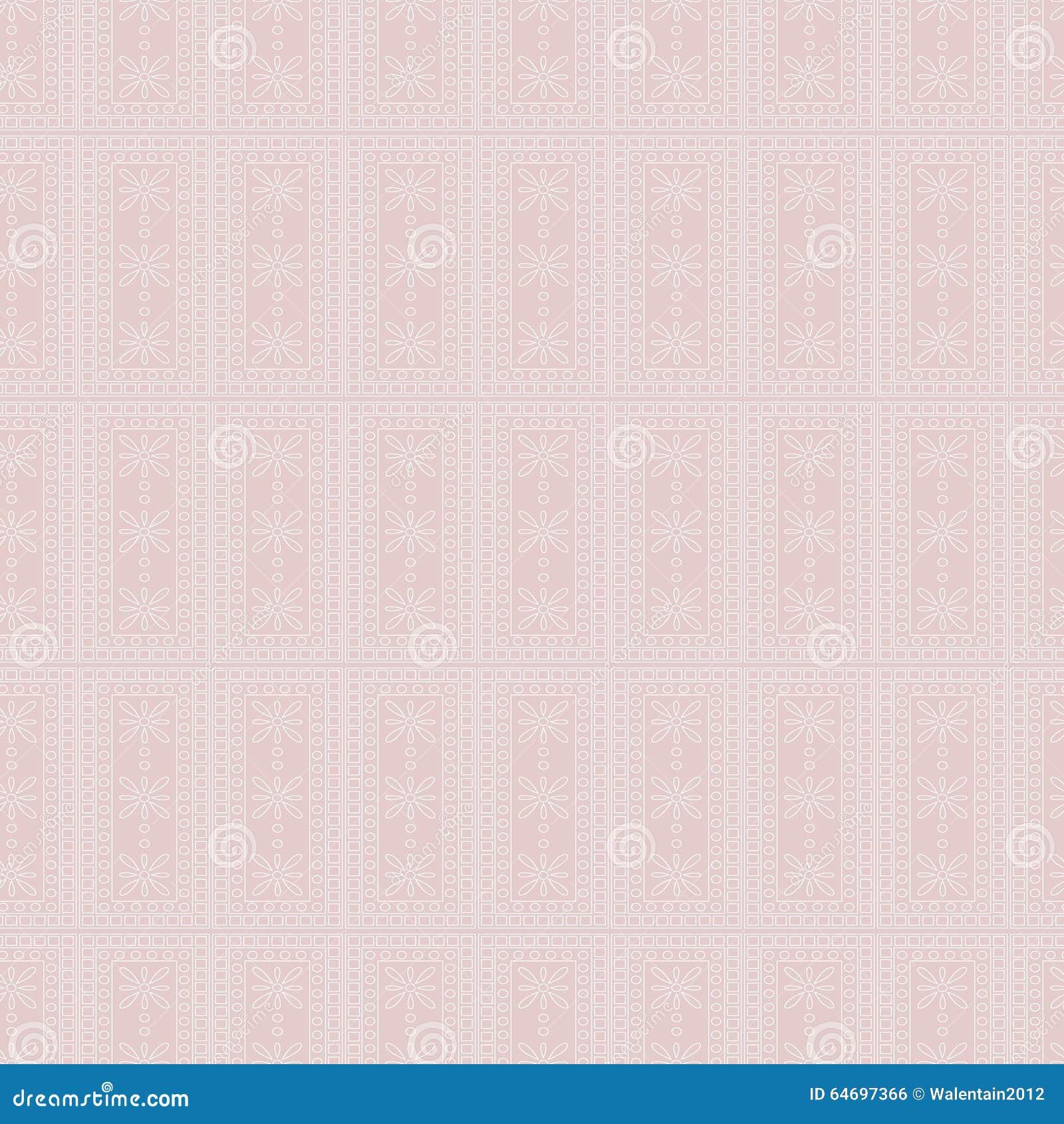 Seamless vektor för modell Symmetrisk geometrisk bakgrund med rektanglar på den rosa bakgrunden dekorativ prydnad