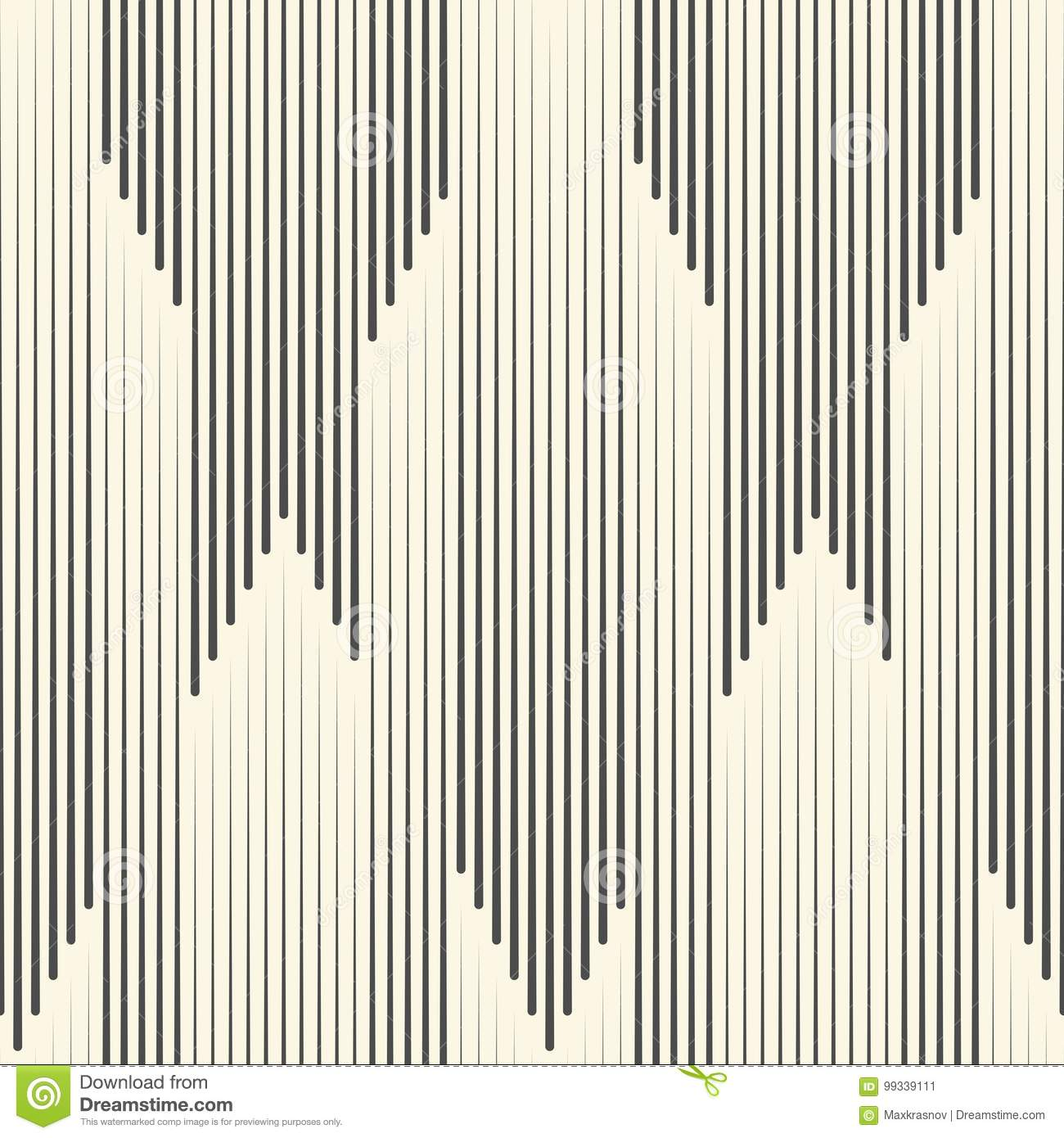 Seamless Vertical Stripe Pattern. Vector Black and White Line Ba