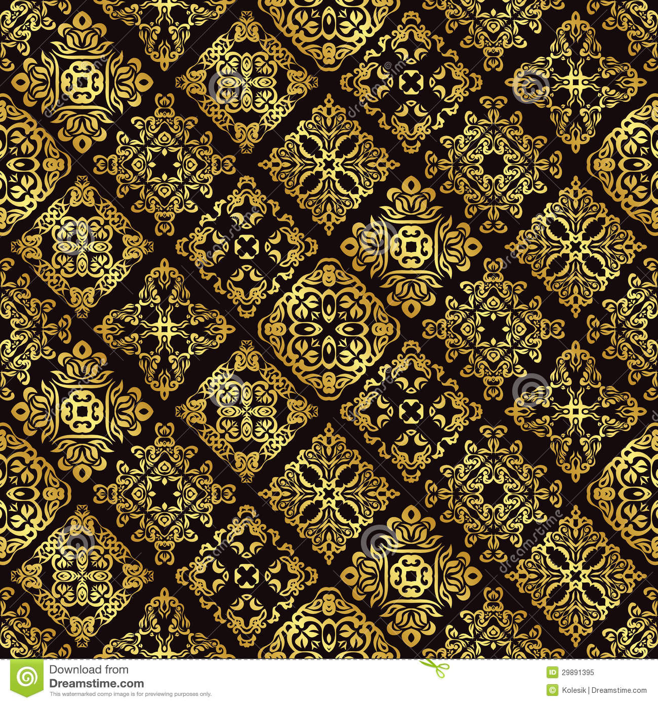 seamless vintage background in gold royalty free stock