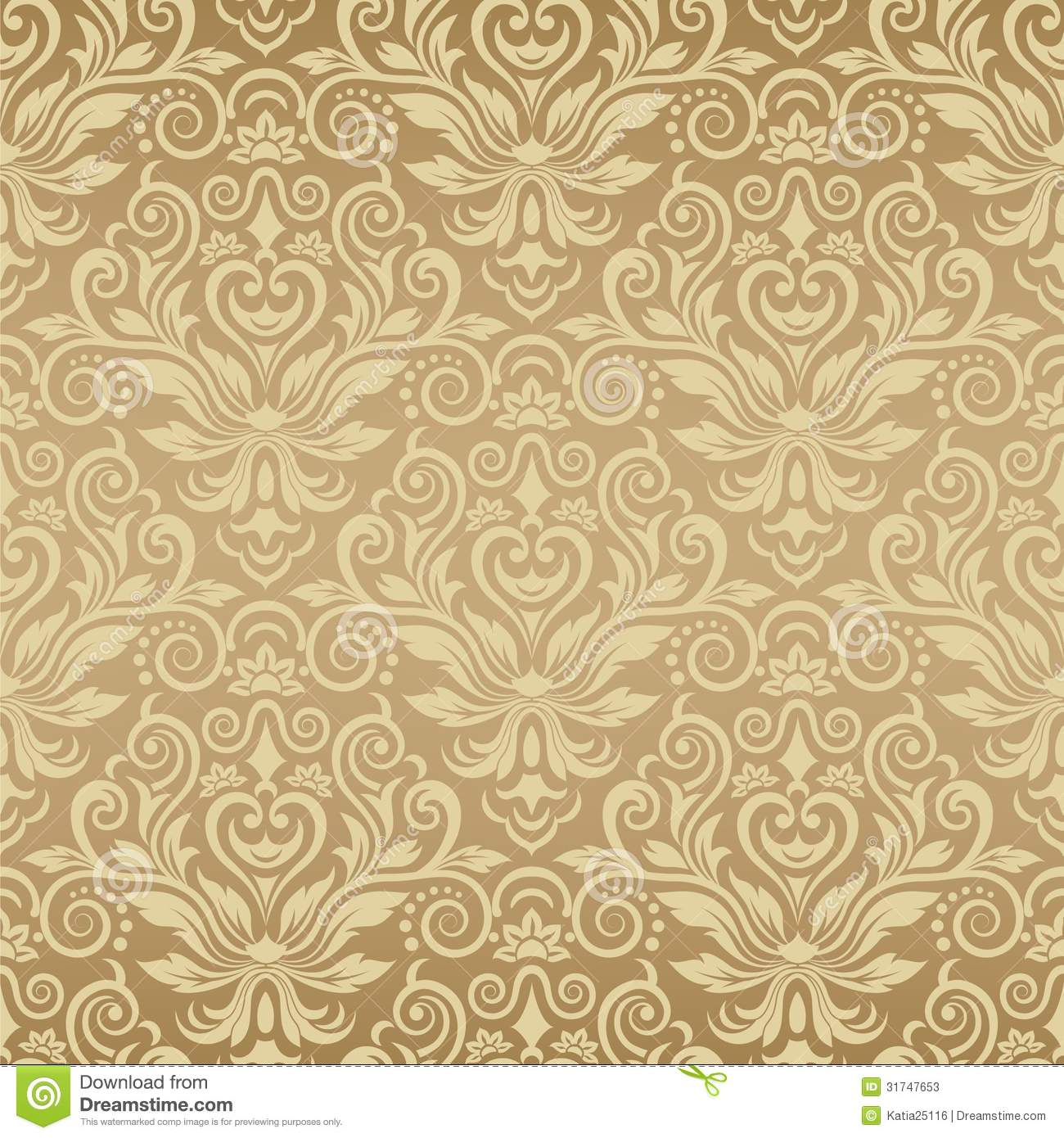 Seamless Vintage Background Vector Background For Stock Vector