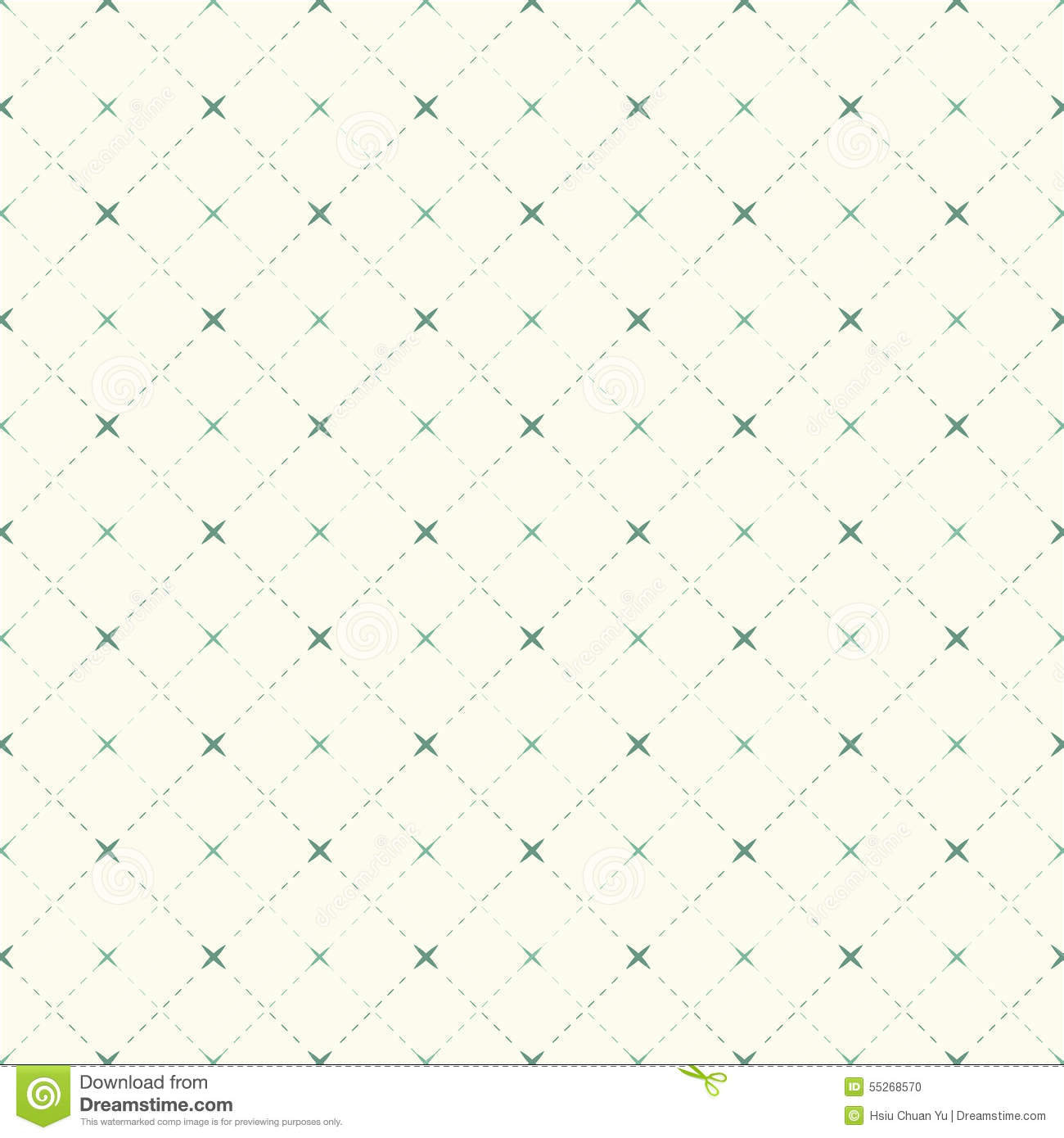 seamless vintage check dotted line and cross pattern