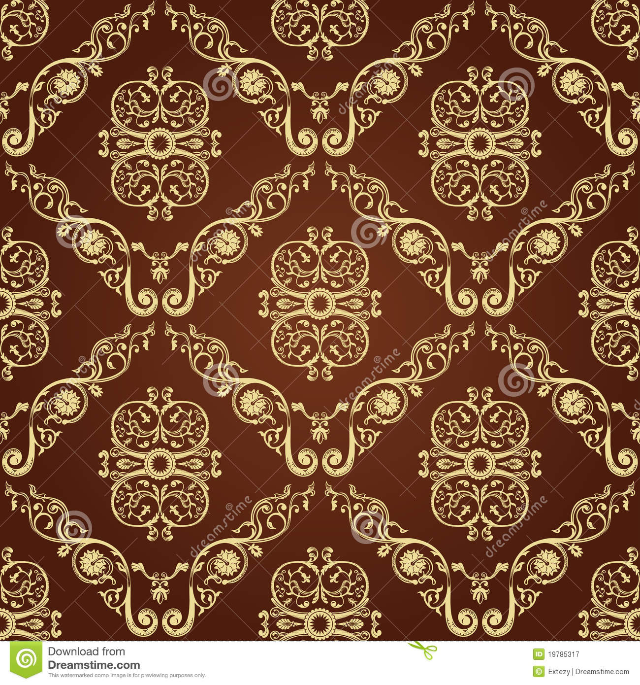 Seamless vintage decor wallpaper background royalty free for Wallpaper decor