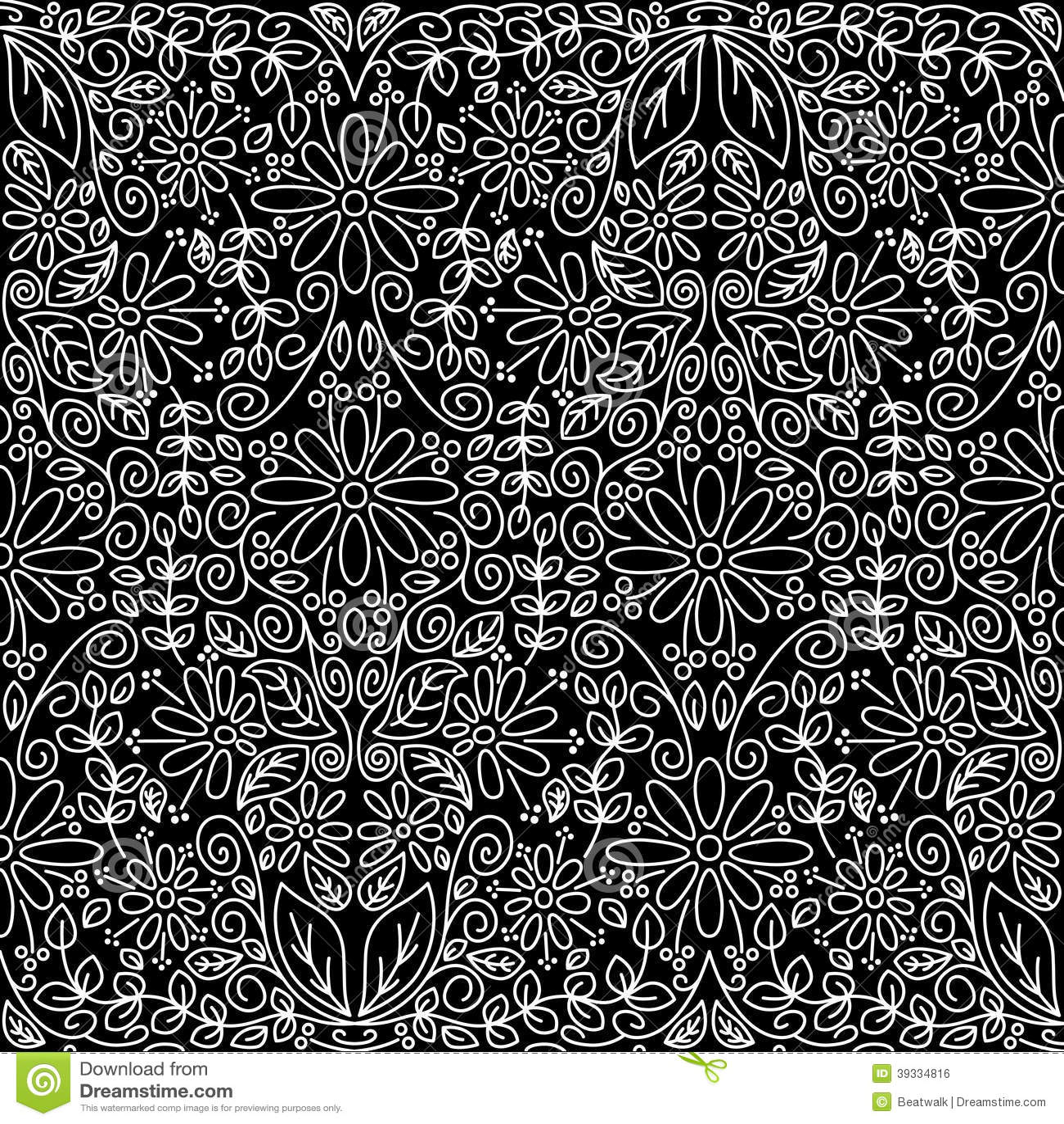 Seamless Vintage Floral Wallpaper Stock Vector Illustration Of