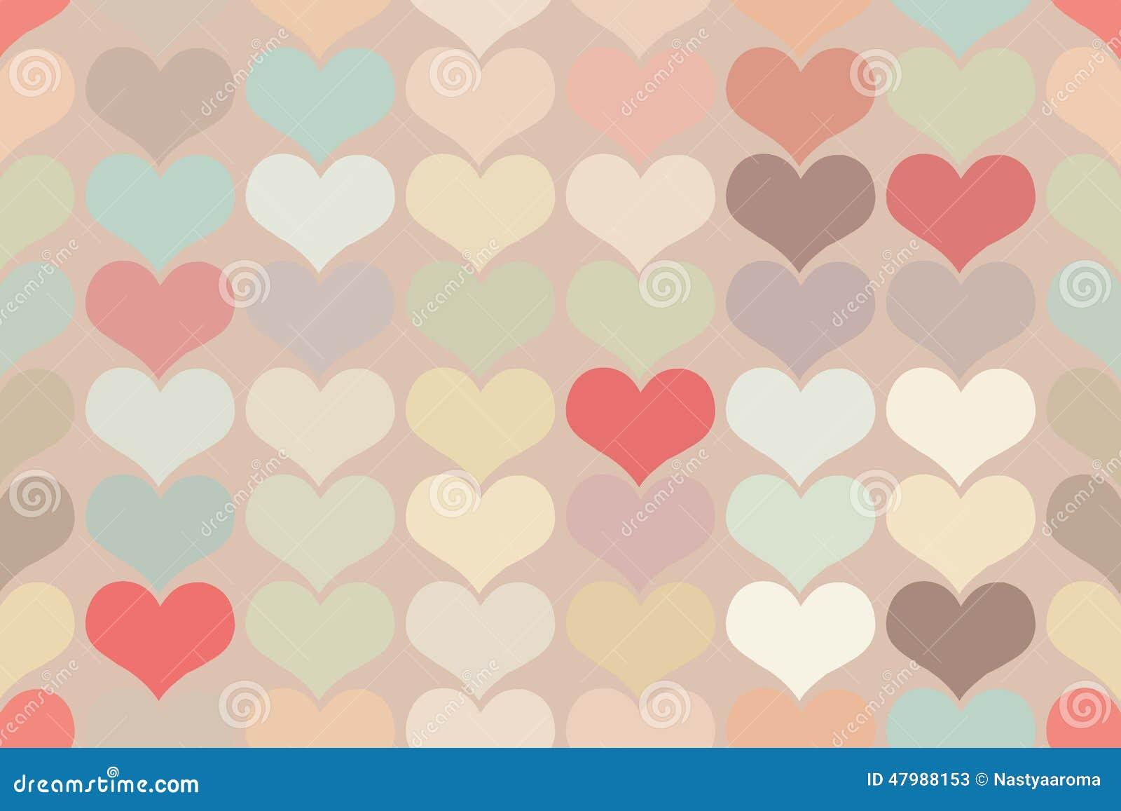 Vintage Heart Background Seamless Vintag...