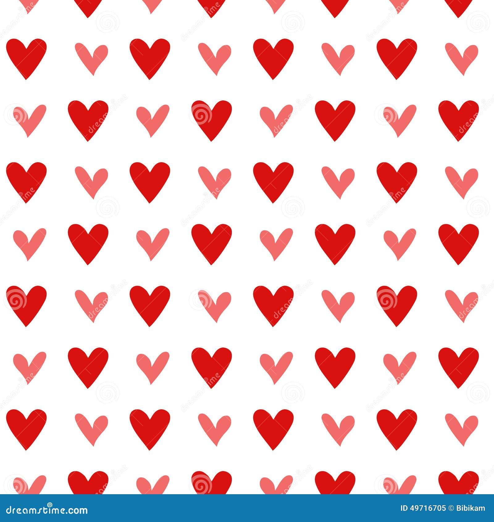 Vintage Heart Background Seamless Vintage Heart...