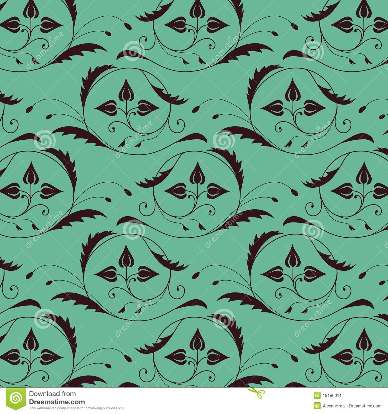Seamless vintage pattern with color of sea