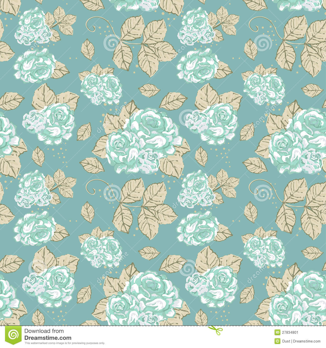 Gallery For > Vintage Roses Pattern