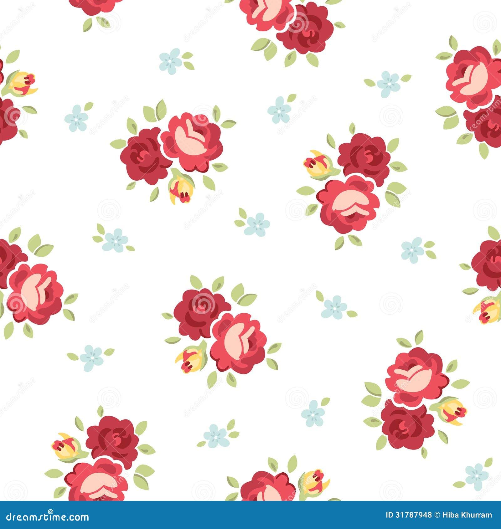 Seamless vintage Rose ...