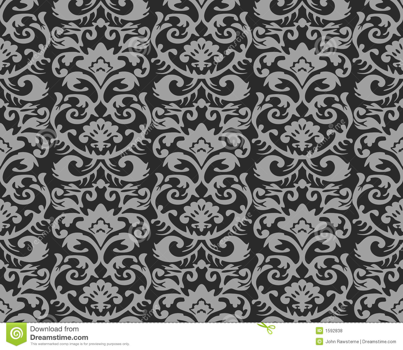 Seamless Vintage Wallpaper Pattern Stock Illustration ...