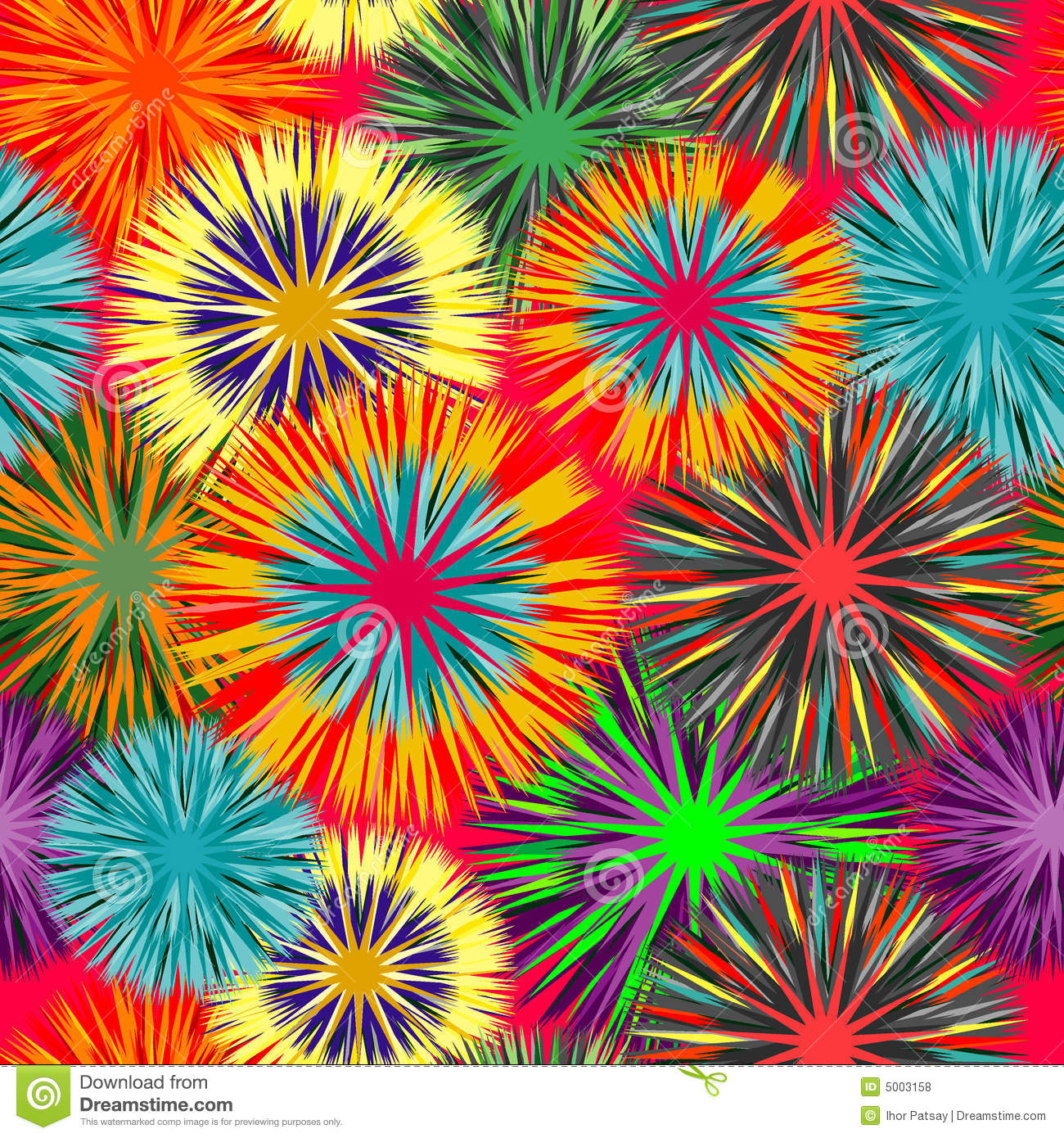Seamless Vivid Cluster Background Stock Vector Image
