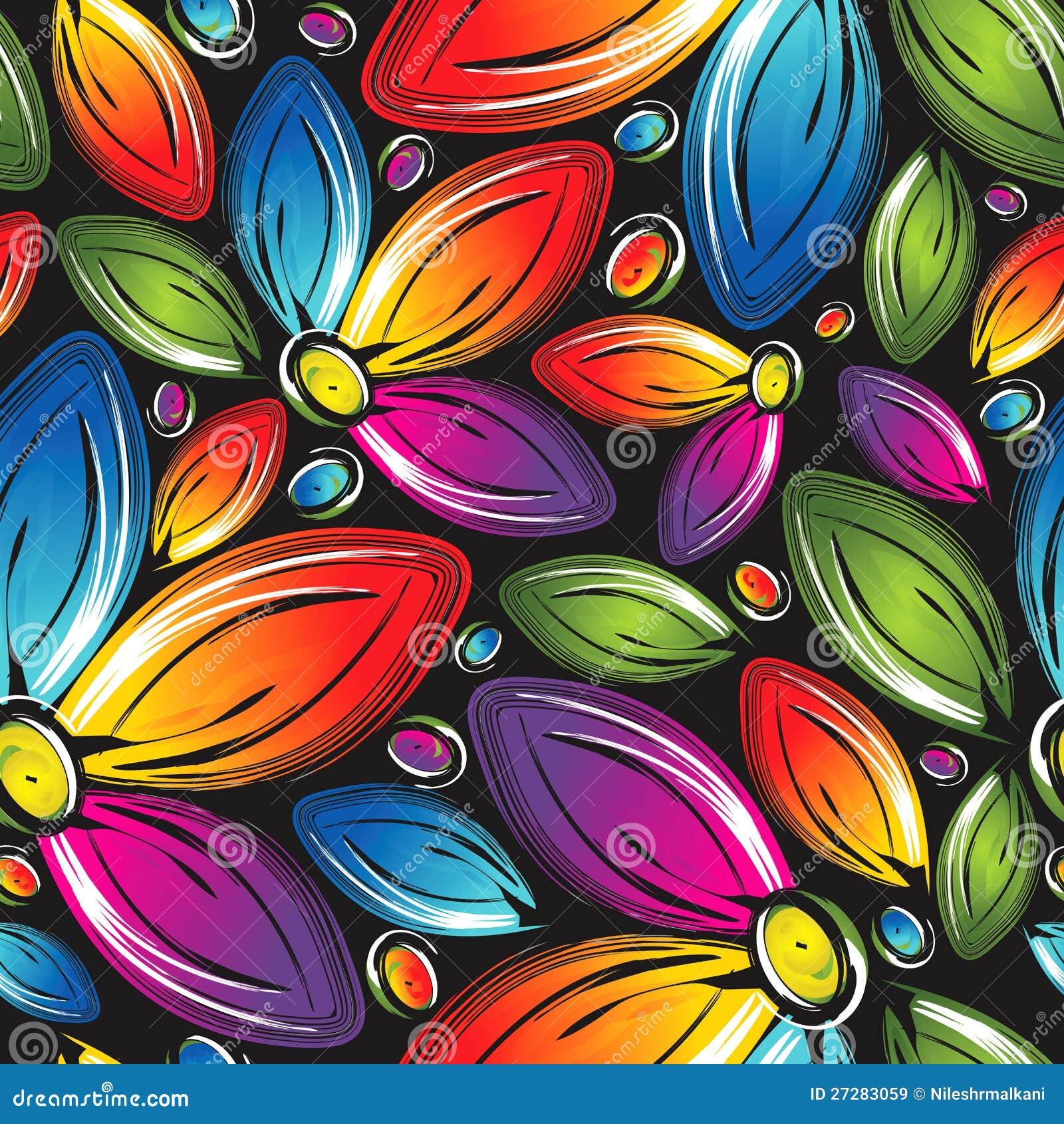 Seamless wallpaper av härliga vektorblommor