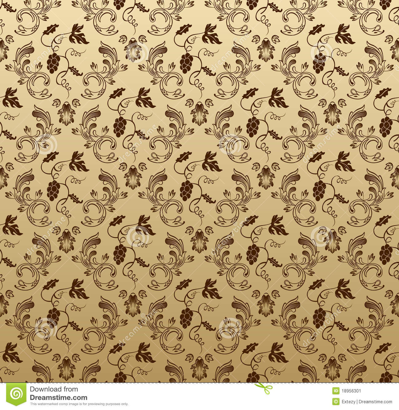 Seamless grapes background vector illustration - Papel pared vintage ...