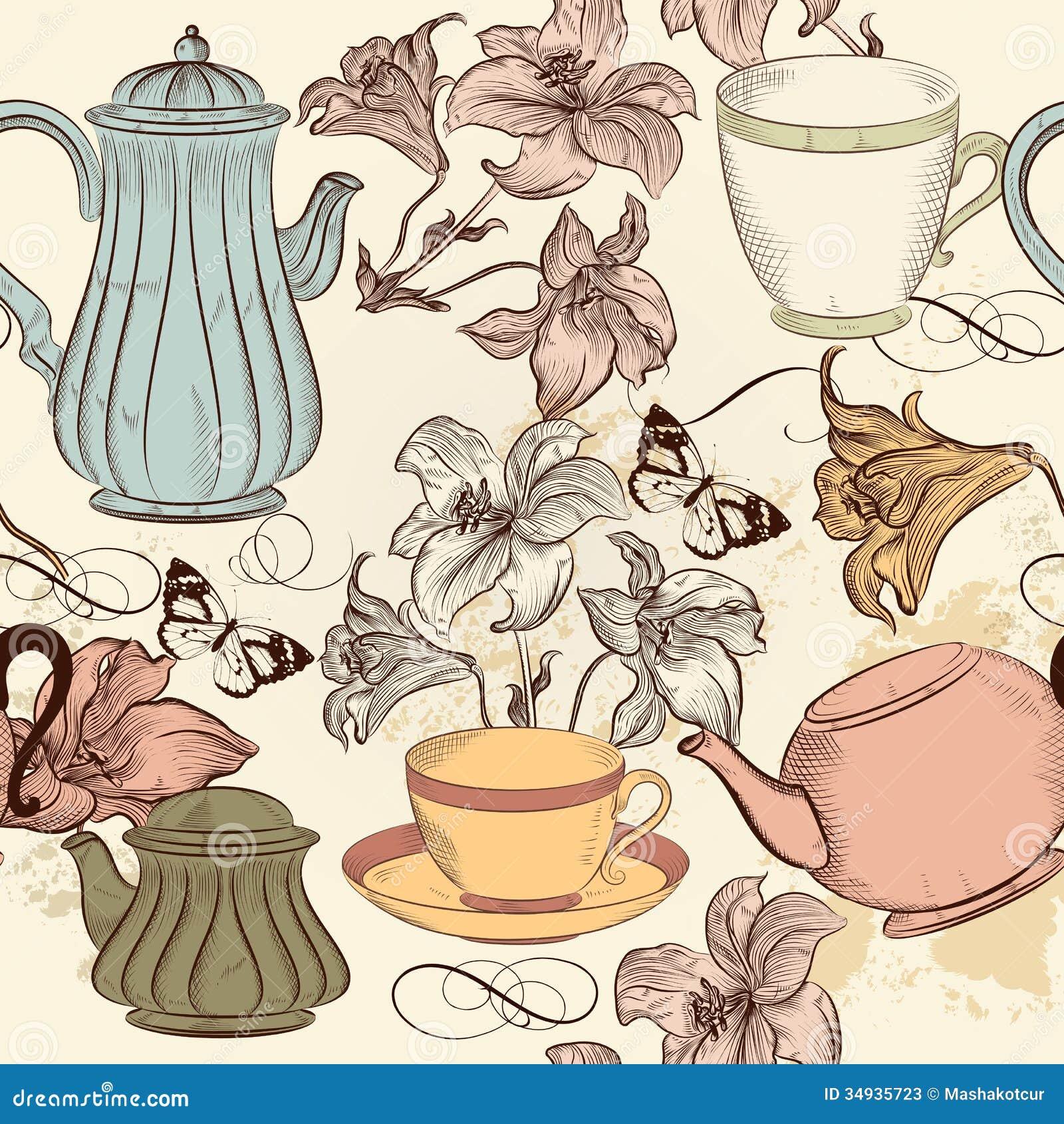 vintage tea cup wallpaper - photo #6