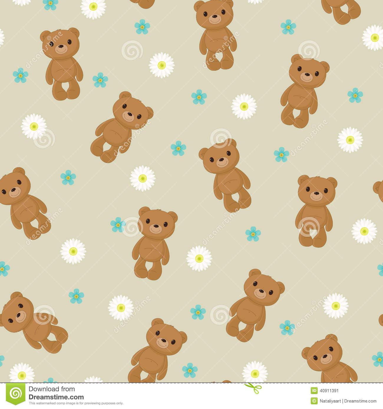 seamless wallpaper with cute teddy bear stock vector brown bear clipart pgn brown bear clip art free
