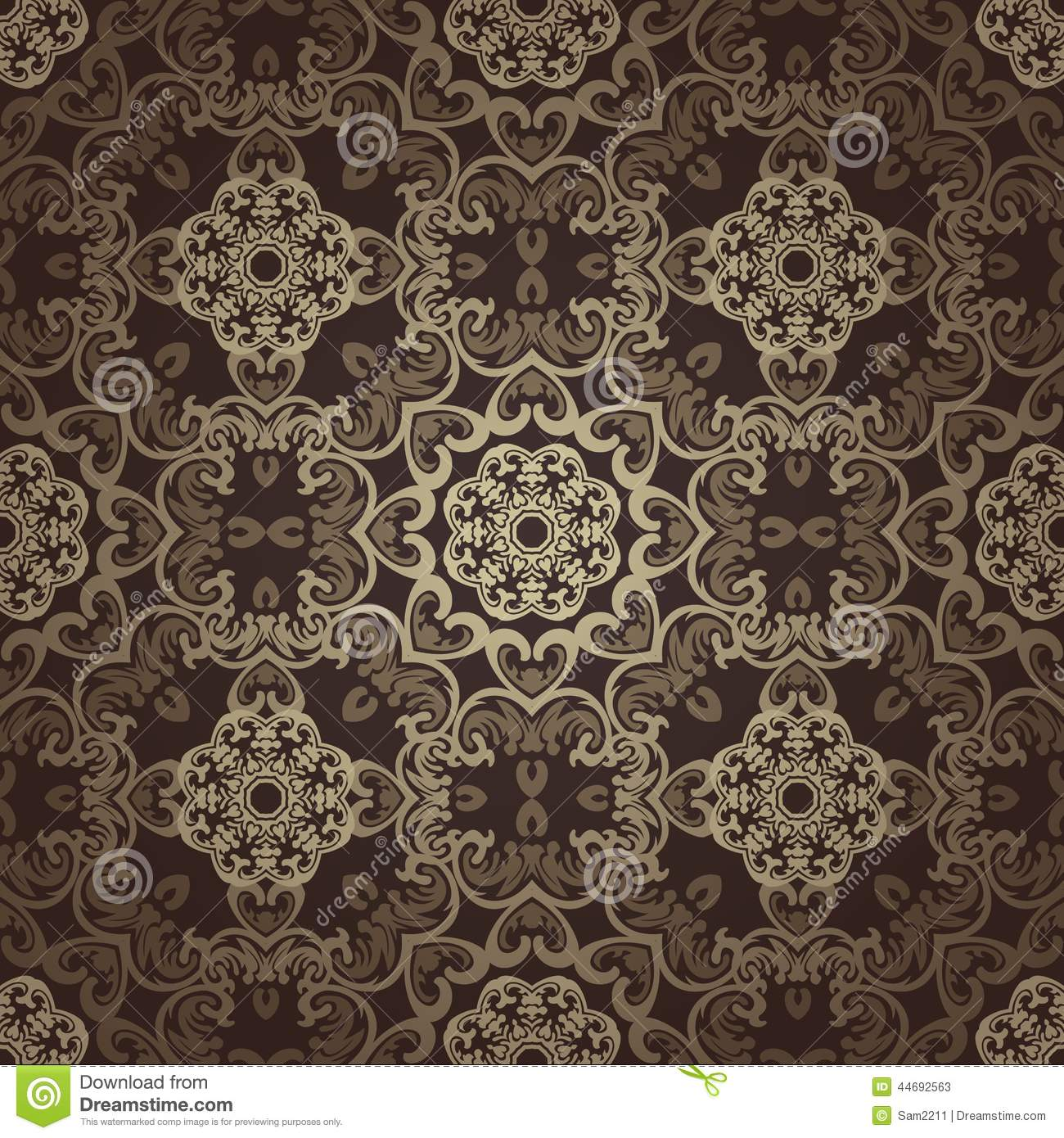 Seamless Wallpaper Islamic Motif Background Stock Vector