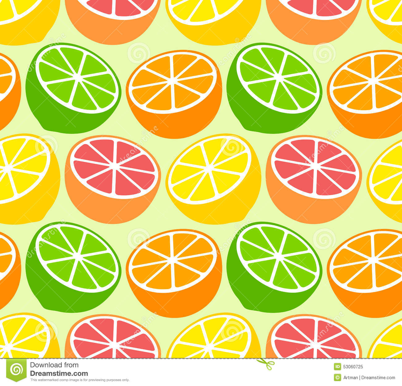 All the fruits wallpaper - Seamless Wallpaper Pattern With Citrus Fruits Royalty Free Stock Photo