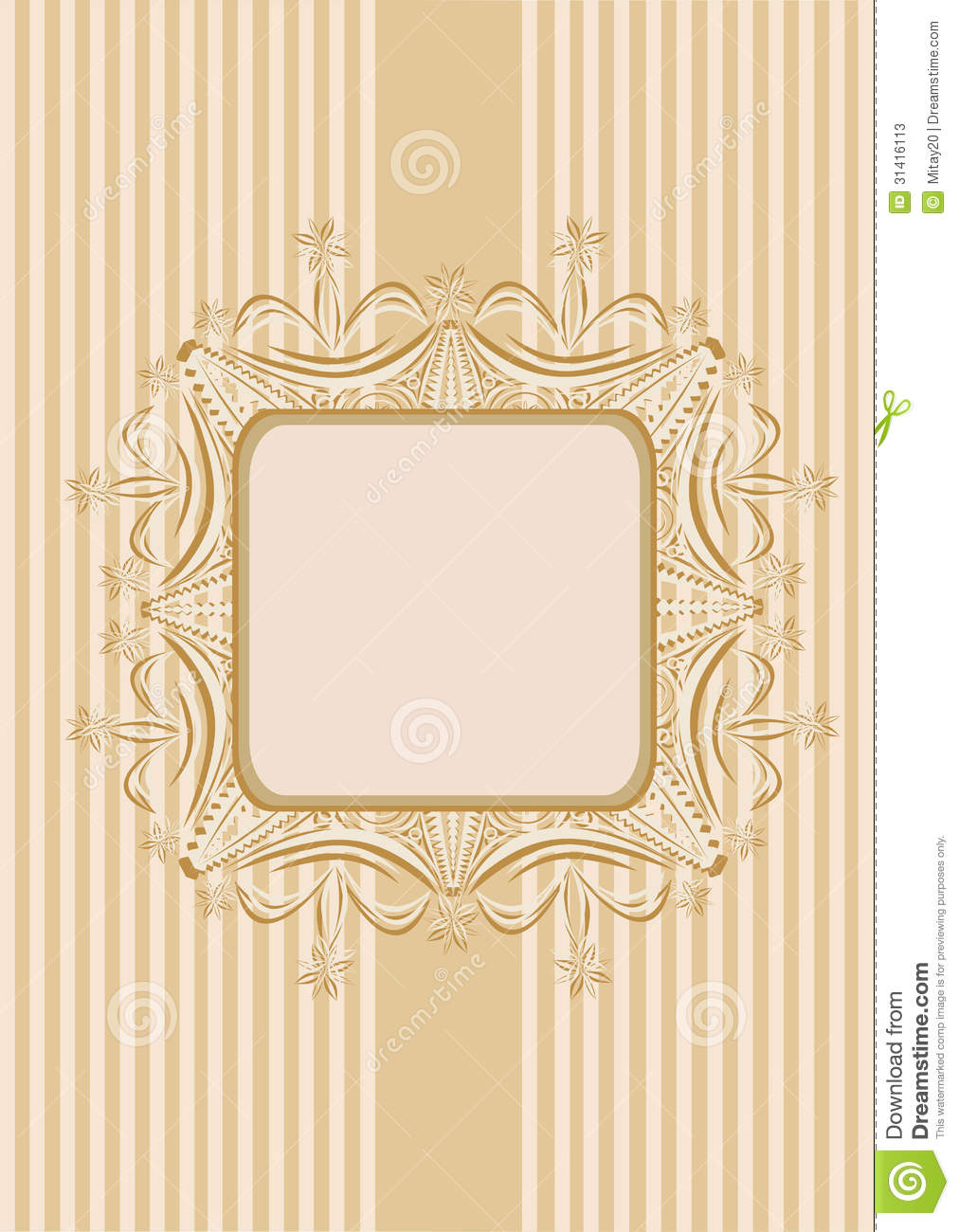 Seamless Wallpaper With A Ribbon And Frame In Pastel