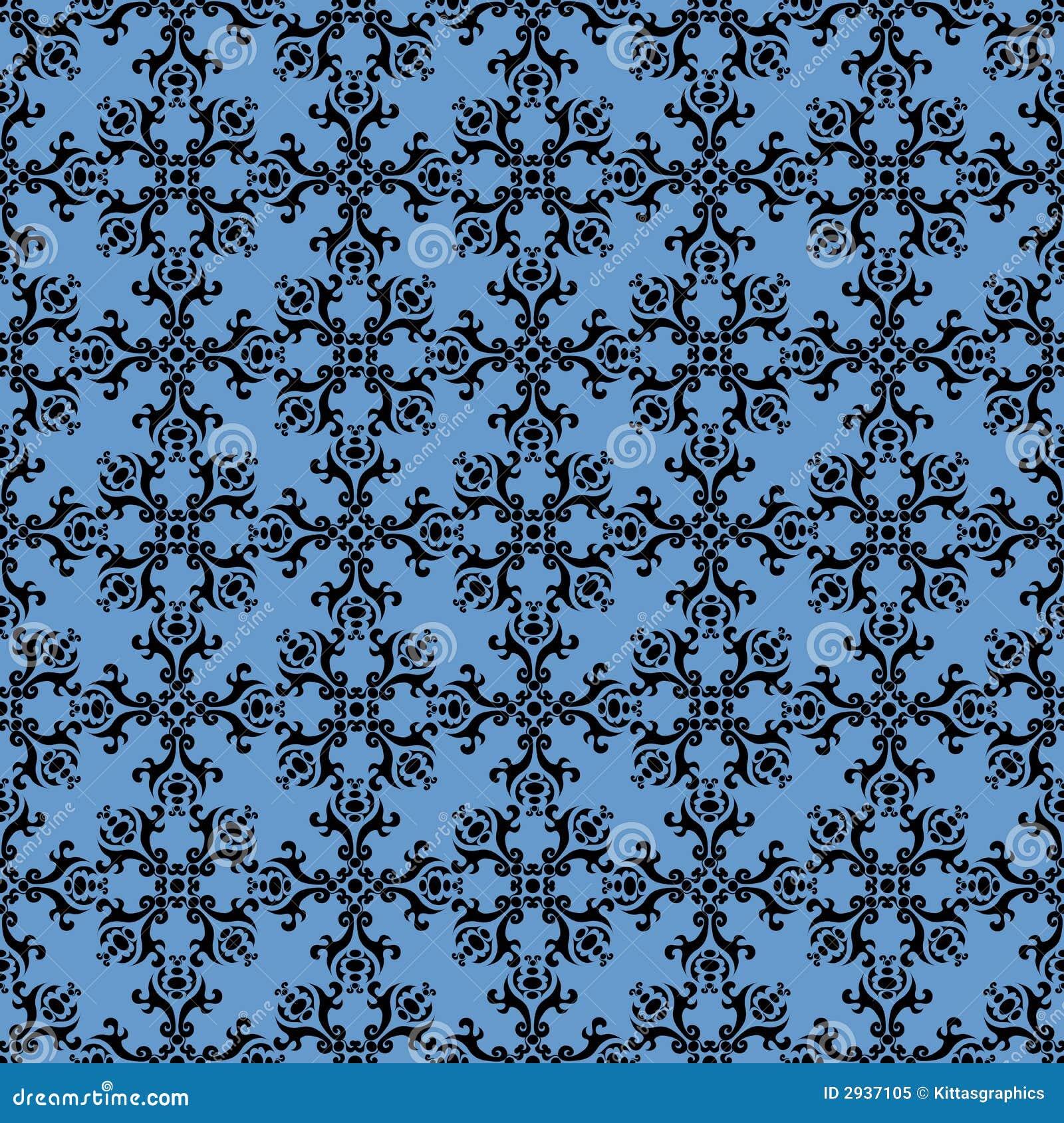 Seamless Wallpaper Tile Design Stock Vector Illustration