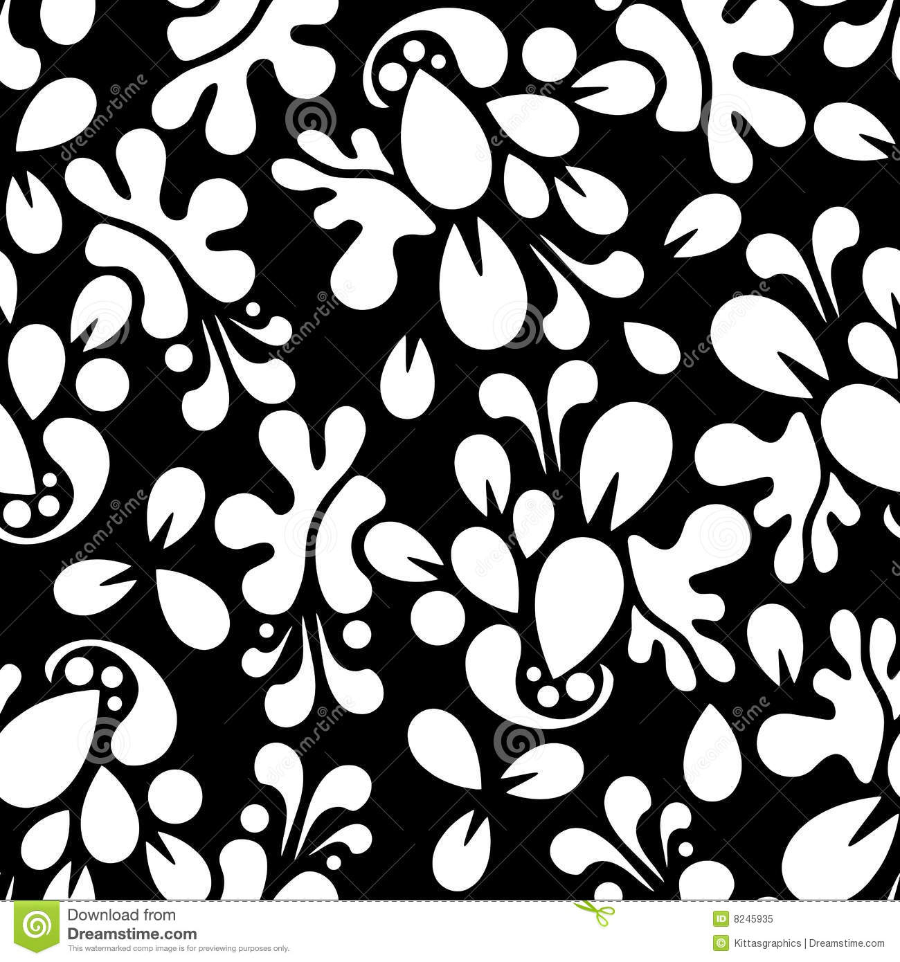 Seamless Wallpaper Tile Design Abstract Royalty Free Stock Photo