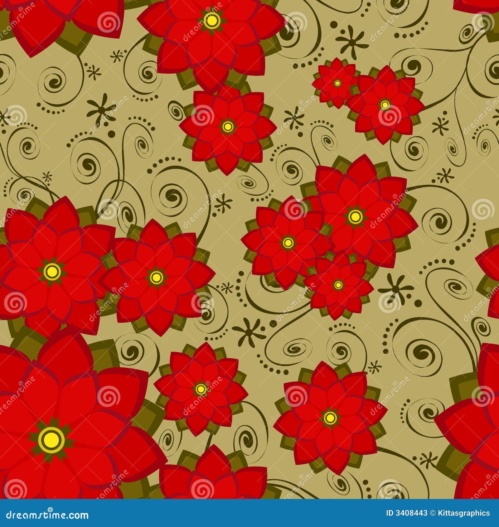Seamless Wallpaper Tile Flower Stock Vector Illustration