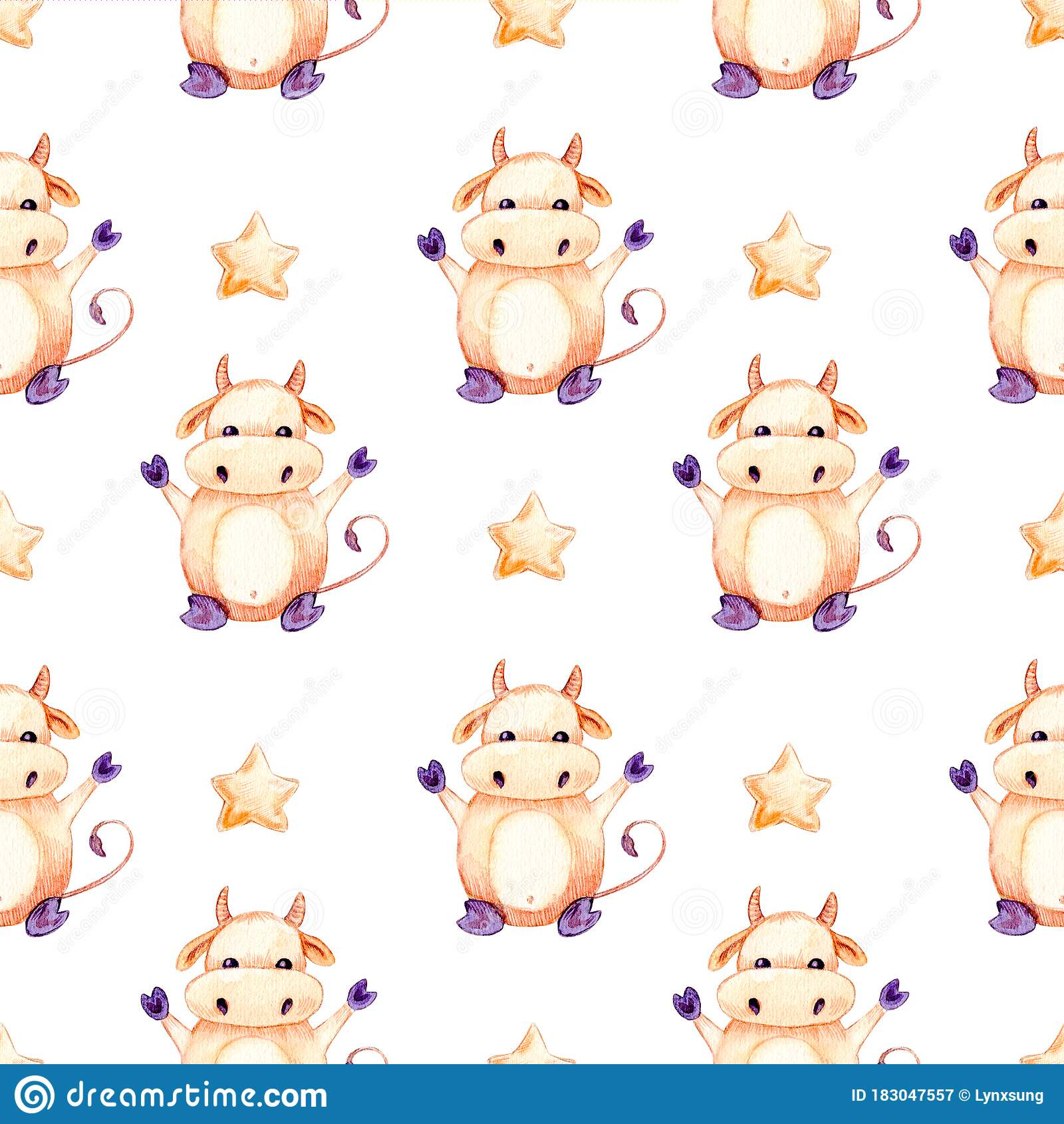 Seamless Watercolor Pattern, Happy New Year 2021 And ...