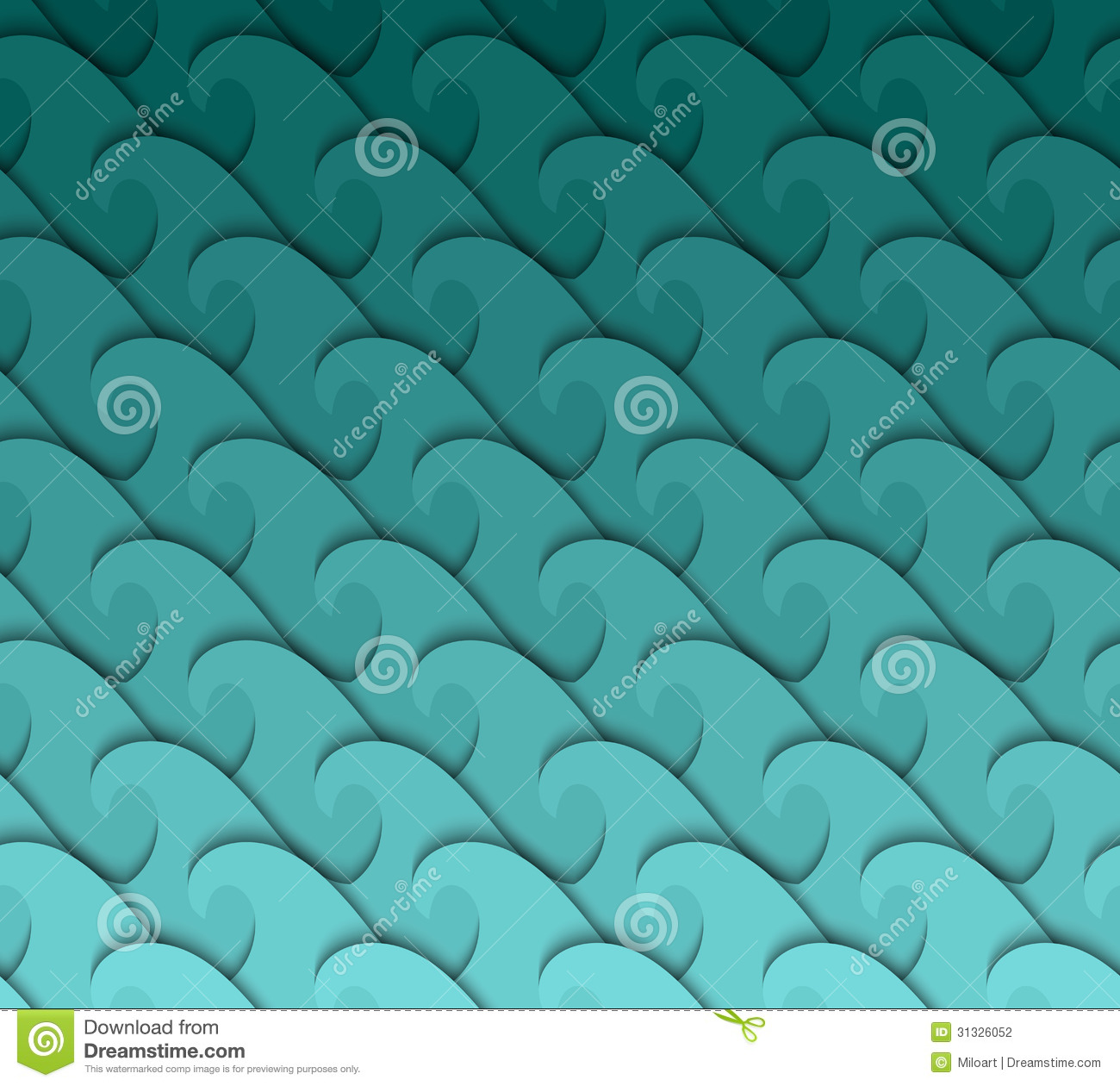 Seamless wave pattern  Vector background Vector Wave Pattern