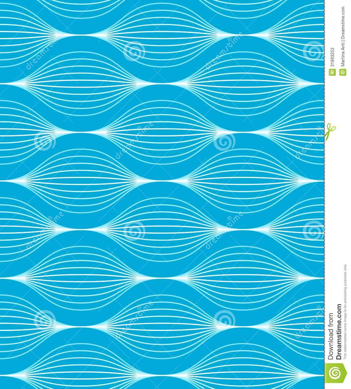 Vector illustration of a blue seamless wave pattern with two global    Vector Wave Pattern