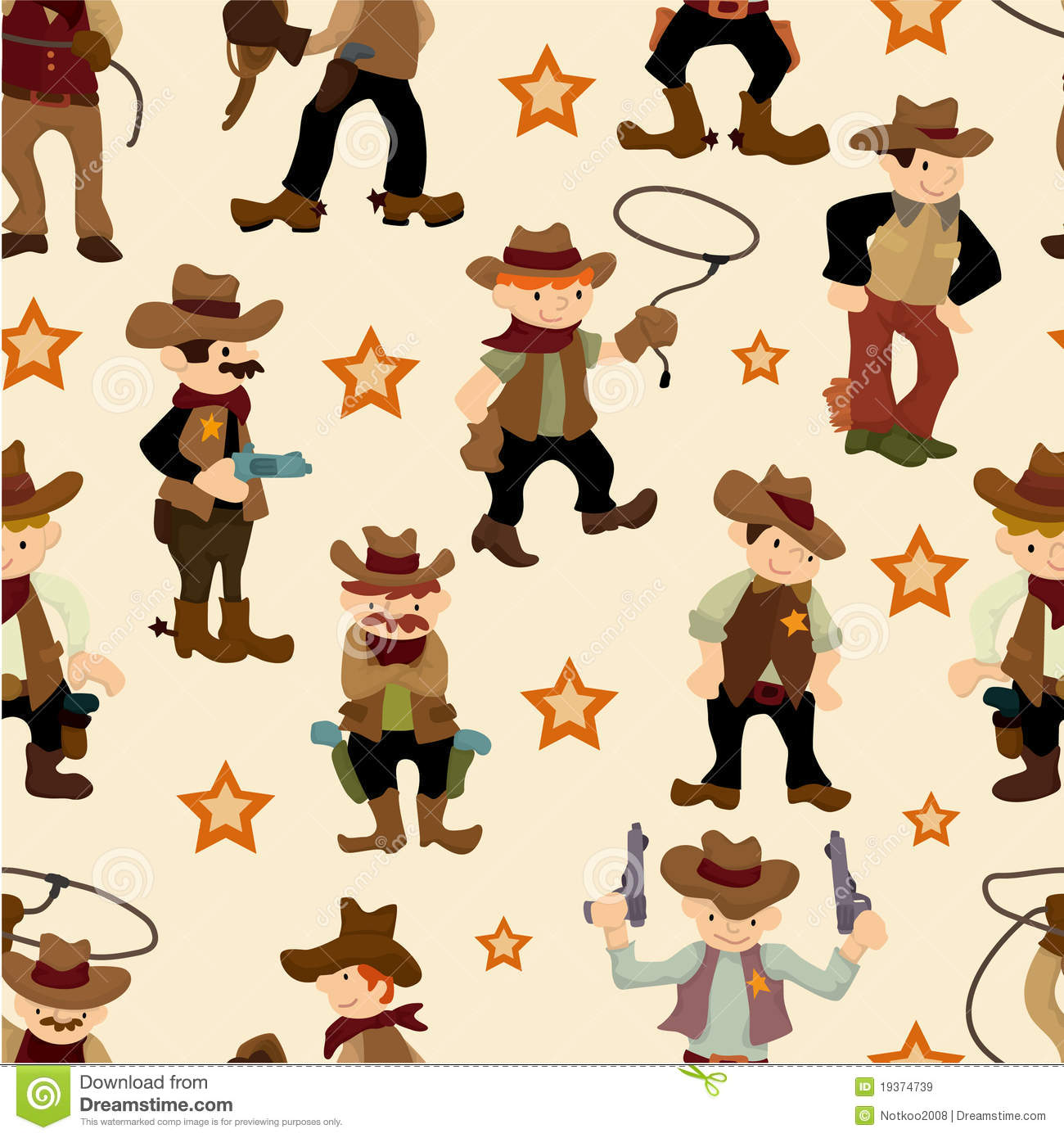 Seamless West Cowboy Pattern Royalty Free Stock Images ...