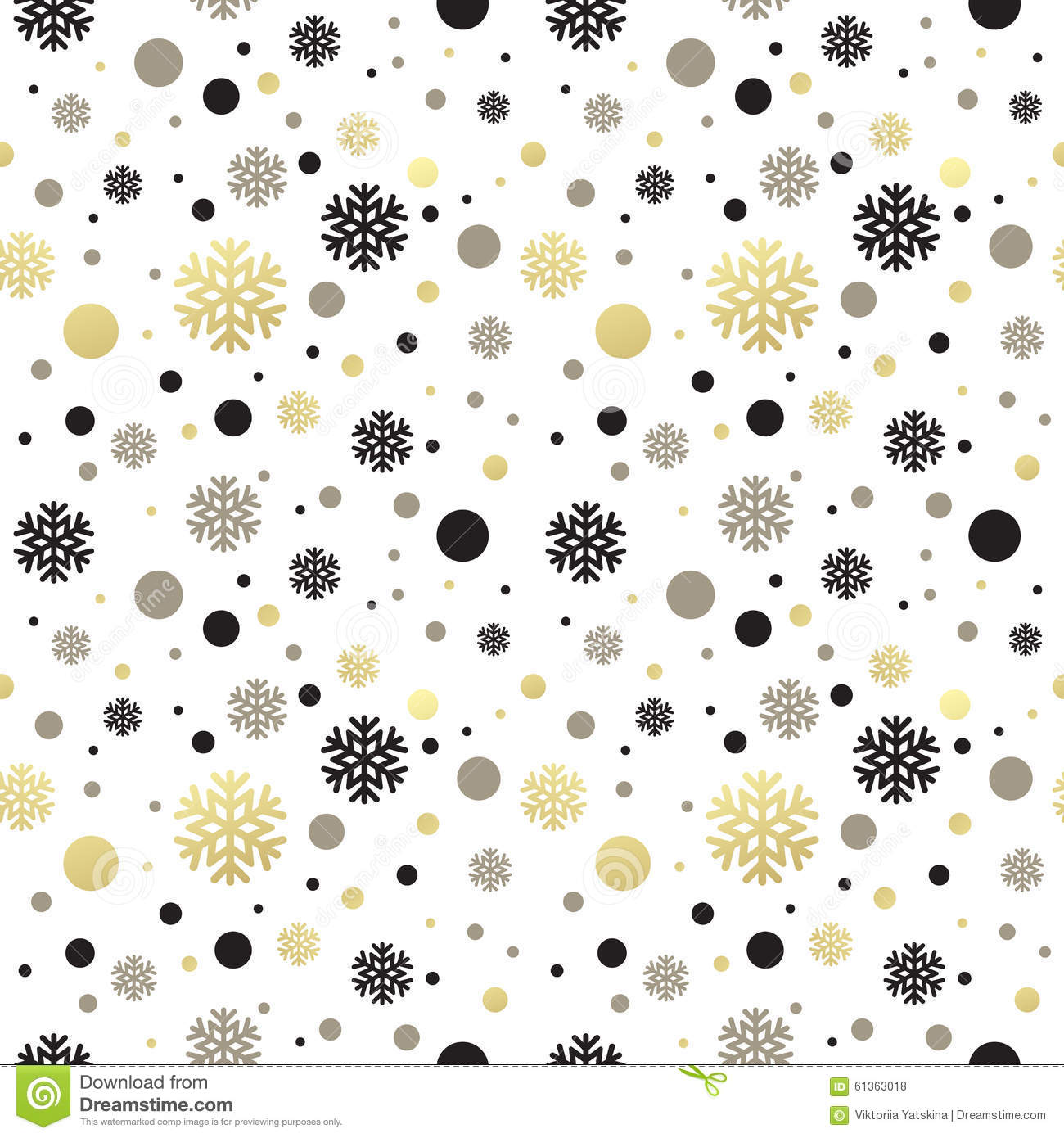 Seamless White Christmas Wallpaper With Black Stock Vector