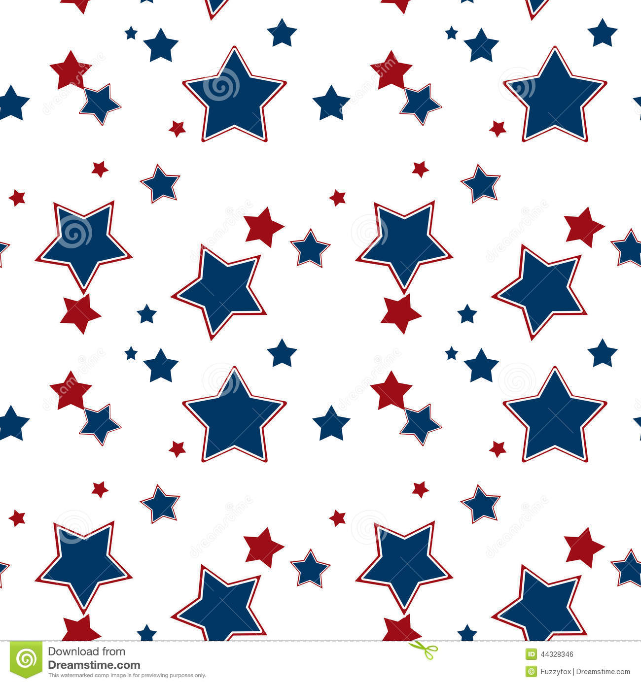 Seamless White Pattern With Red Blue Stars Background Stock ...