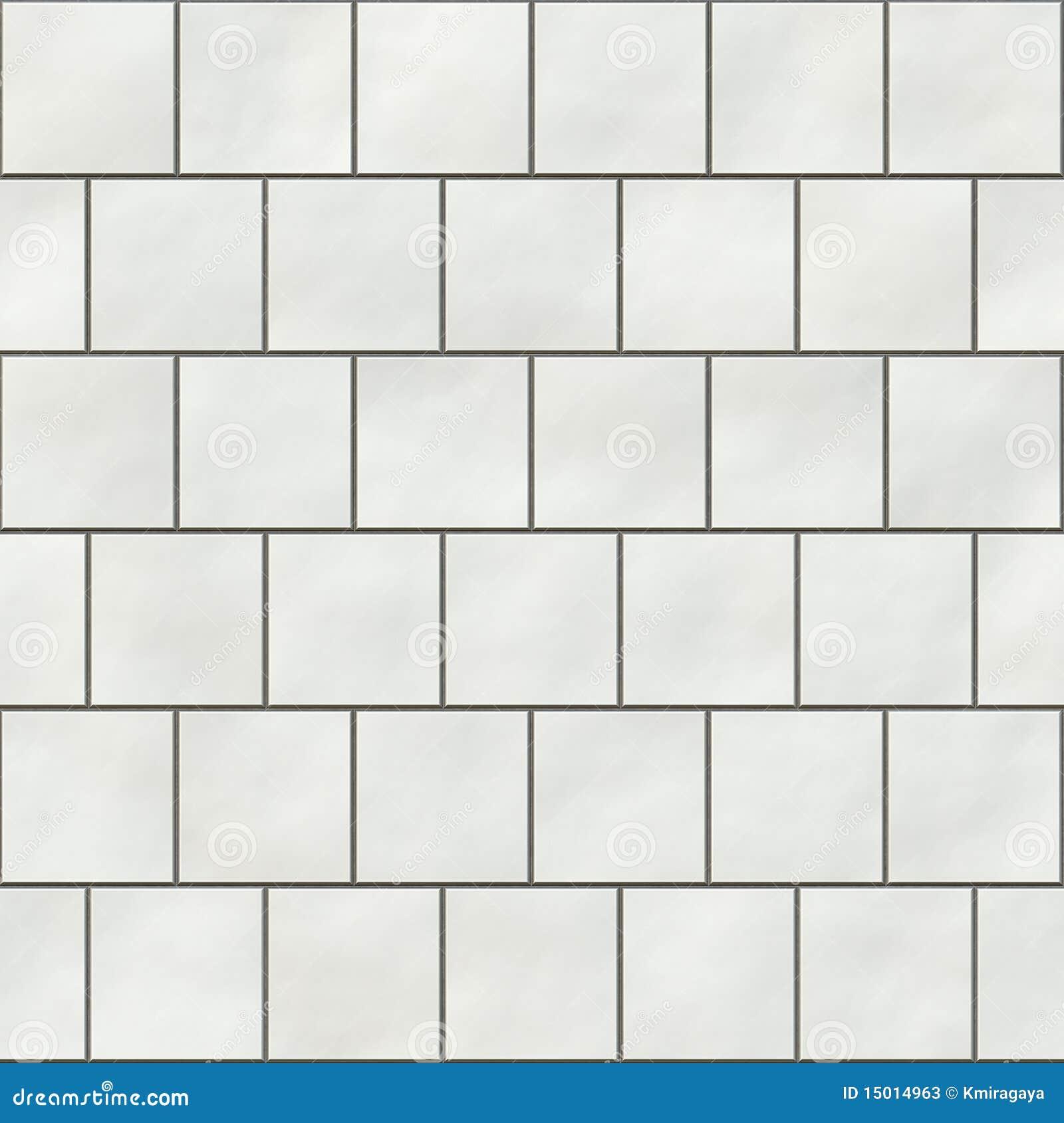 Seamless White Square Tiles Stock Illustration Image