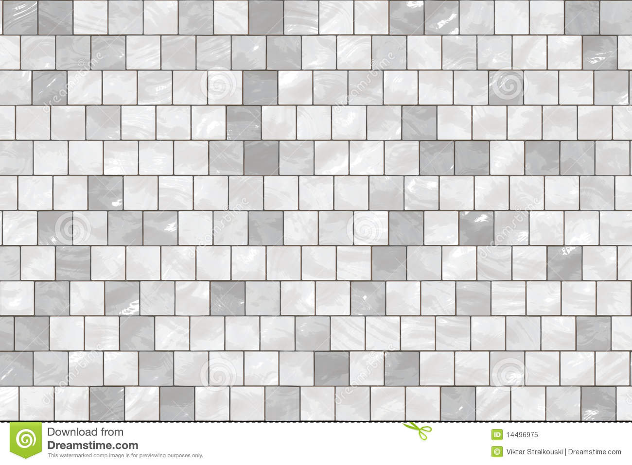 Seamless White Tiles Stock Illustration Image Of Mosaic