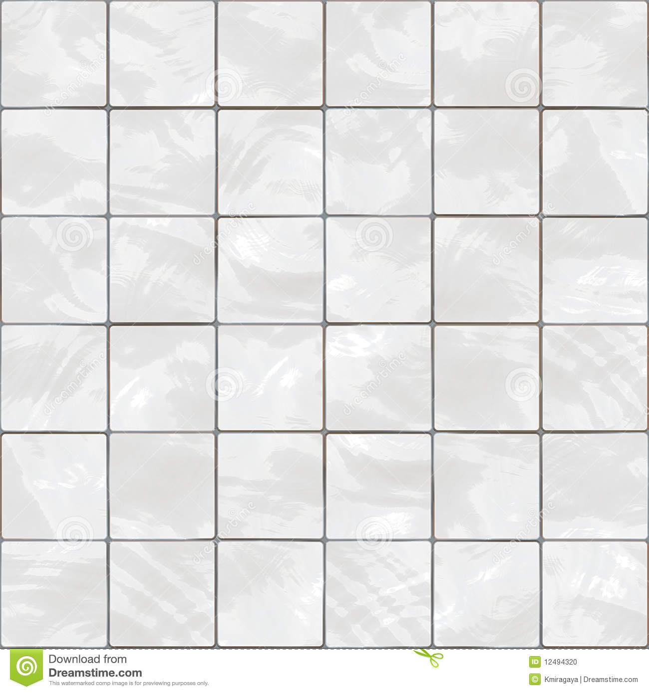 Download Seamless White Tiles Texture Stock Illustration